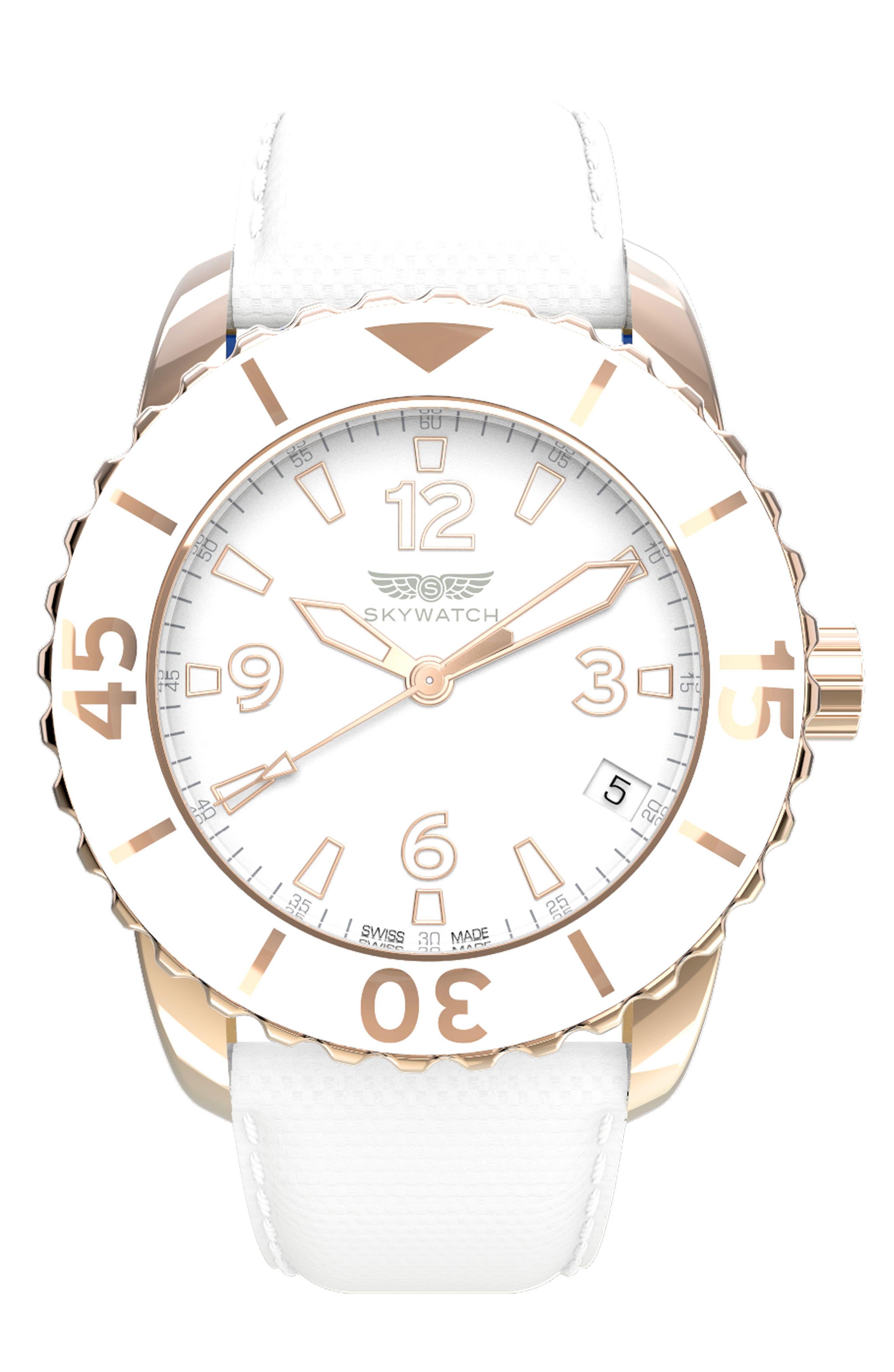 SKYWATCH Classic Woven Strap Watch, 38mm