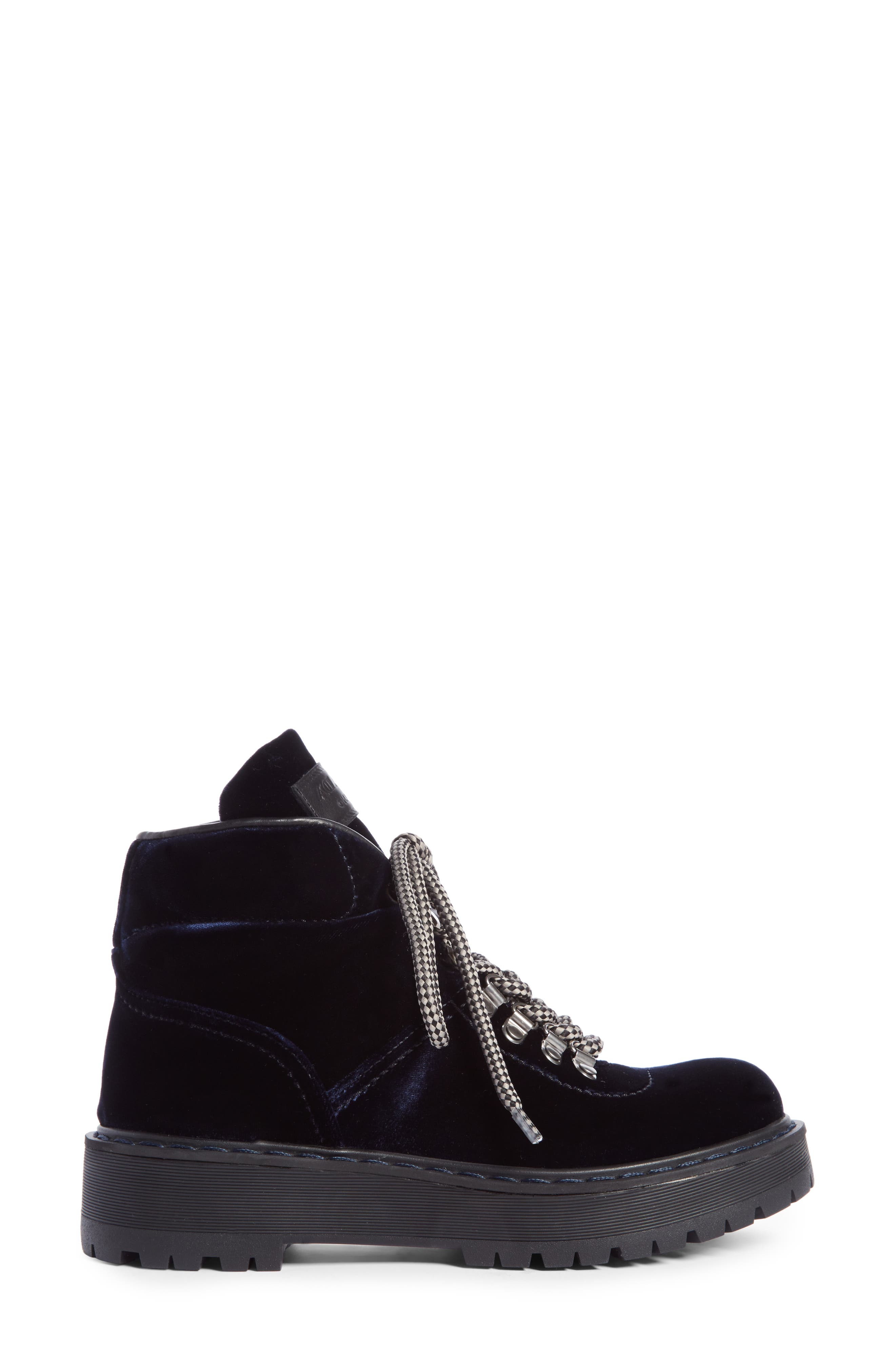 Lace-Up Bootie,                             Alternate thumbnail 4, color,                             Navy