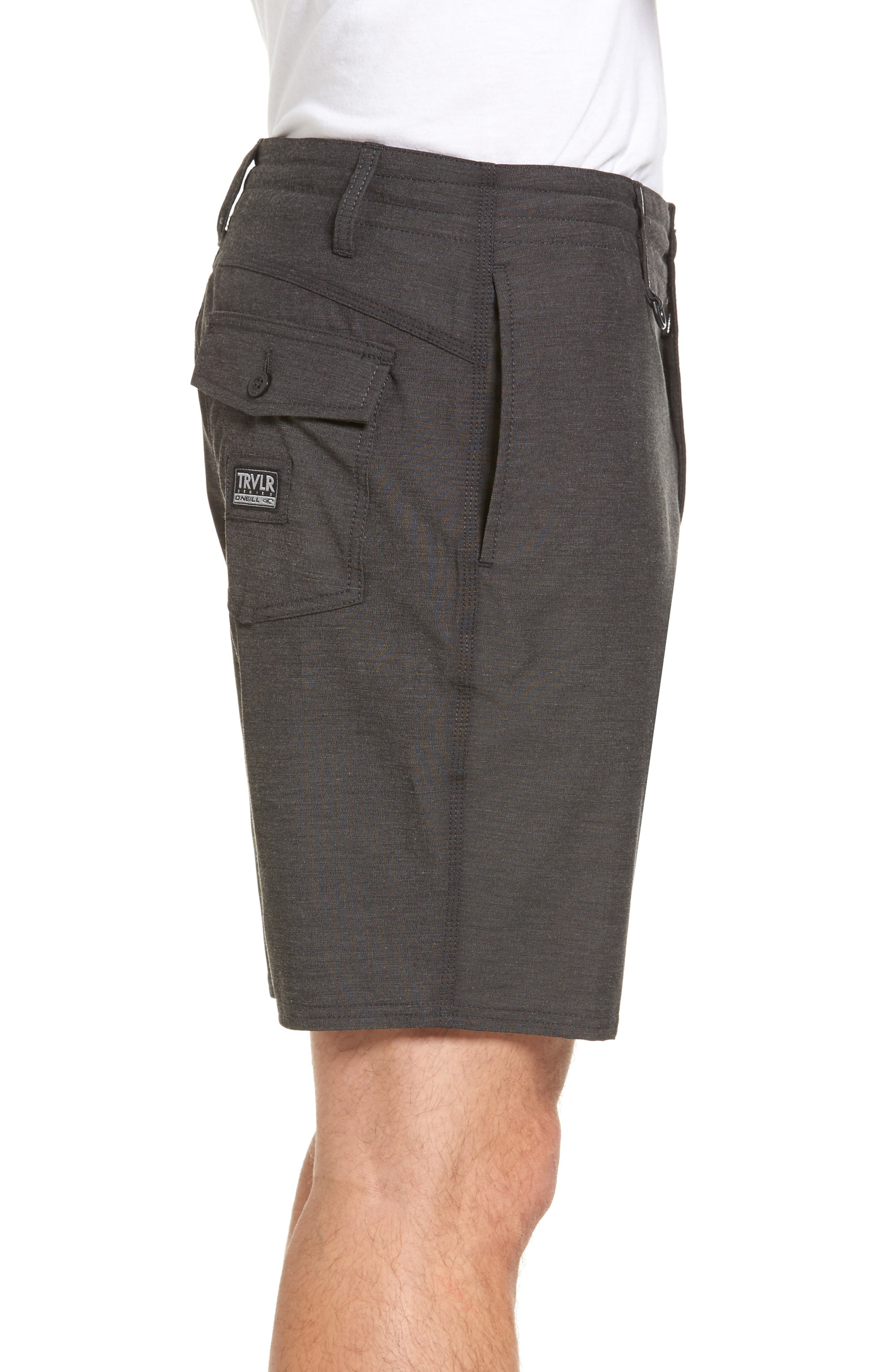 Traveler Recon Hybrid Shorts,                             Alternate thumbnail 3, color,                             Black