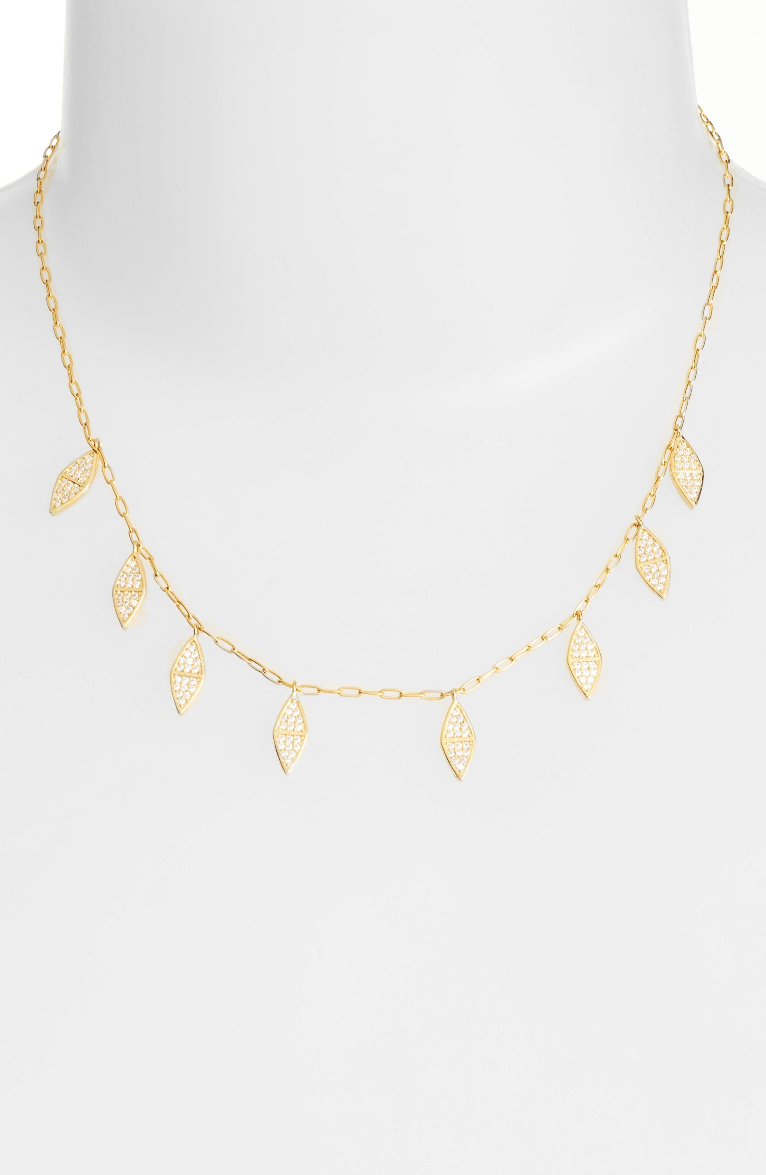 MELINDA MARIA Mini Fringe Collar Necklace