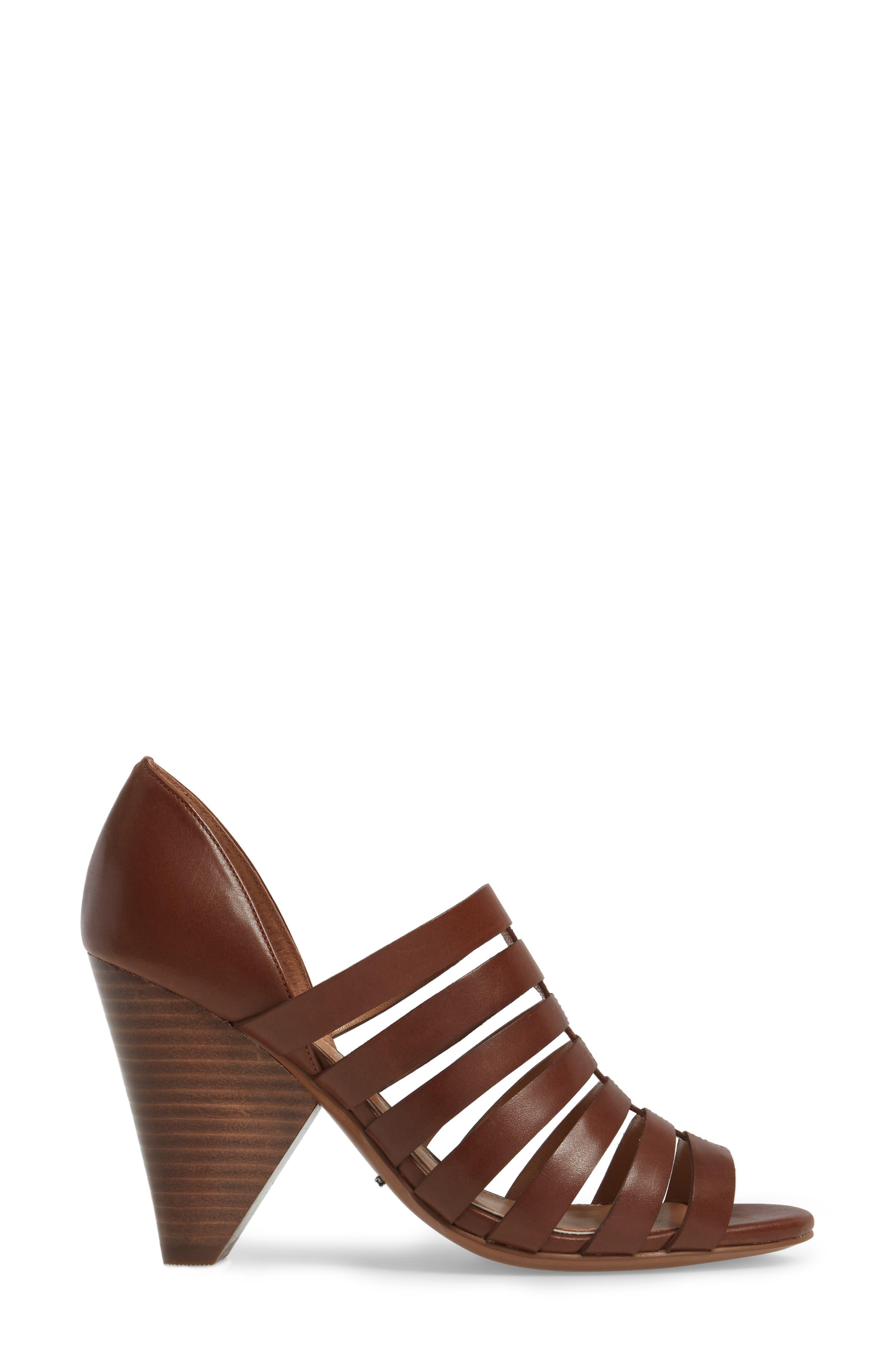 Alternate Image 3  - Linea Paolo Pierce Chisel Heel Cage Sandal (Women)
