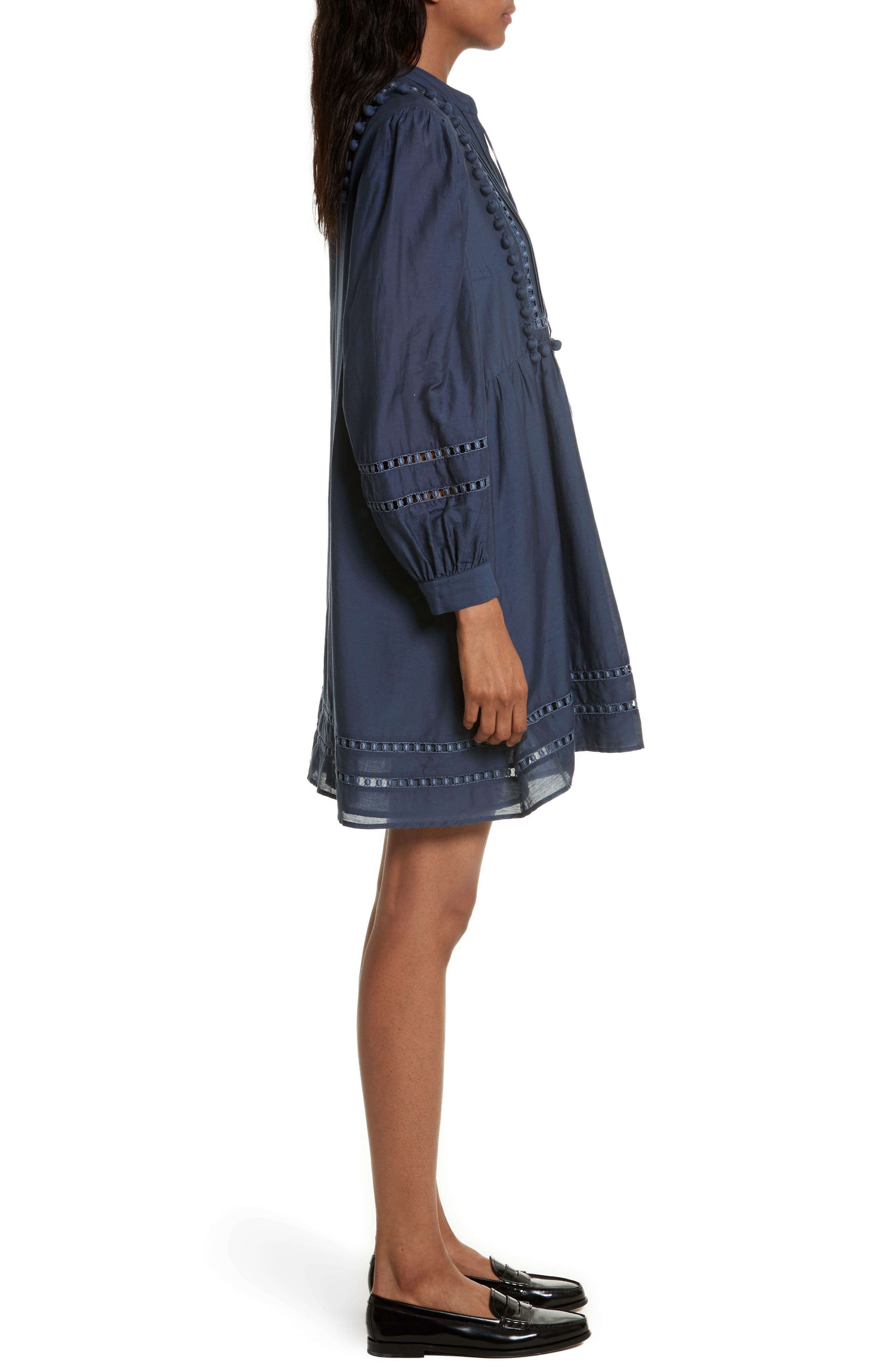 Alternate Image 3  - Sea Pompom Cotton & Silk Tunic Dress