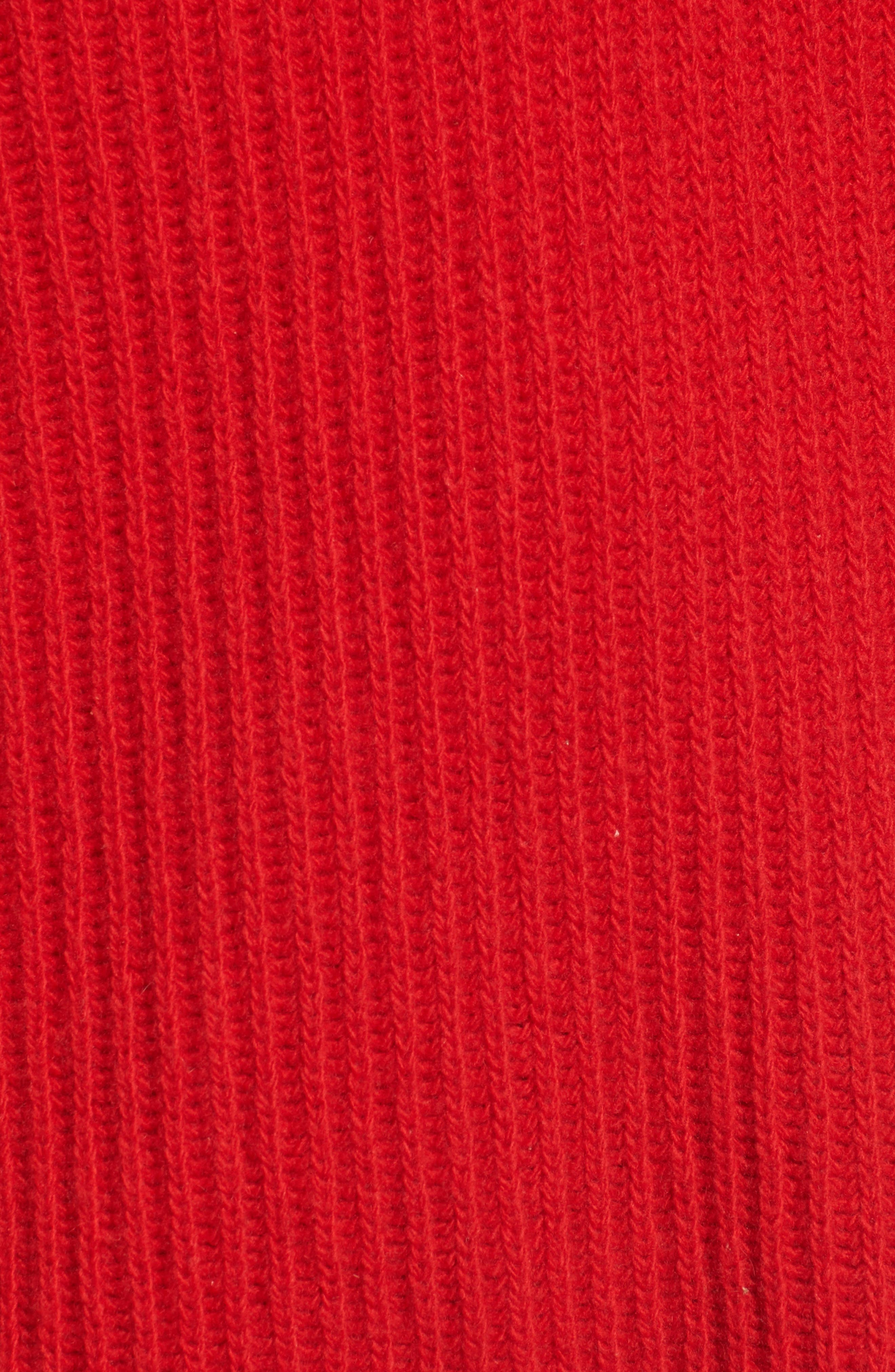 Kassy Wool Blend Sweater,                             Alternate thumbnail 5, color,                             Rouge