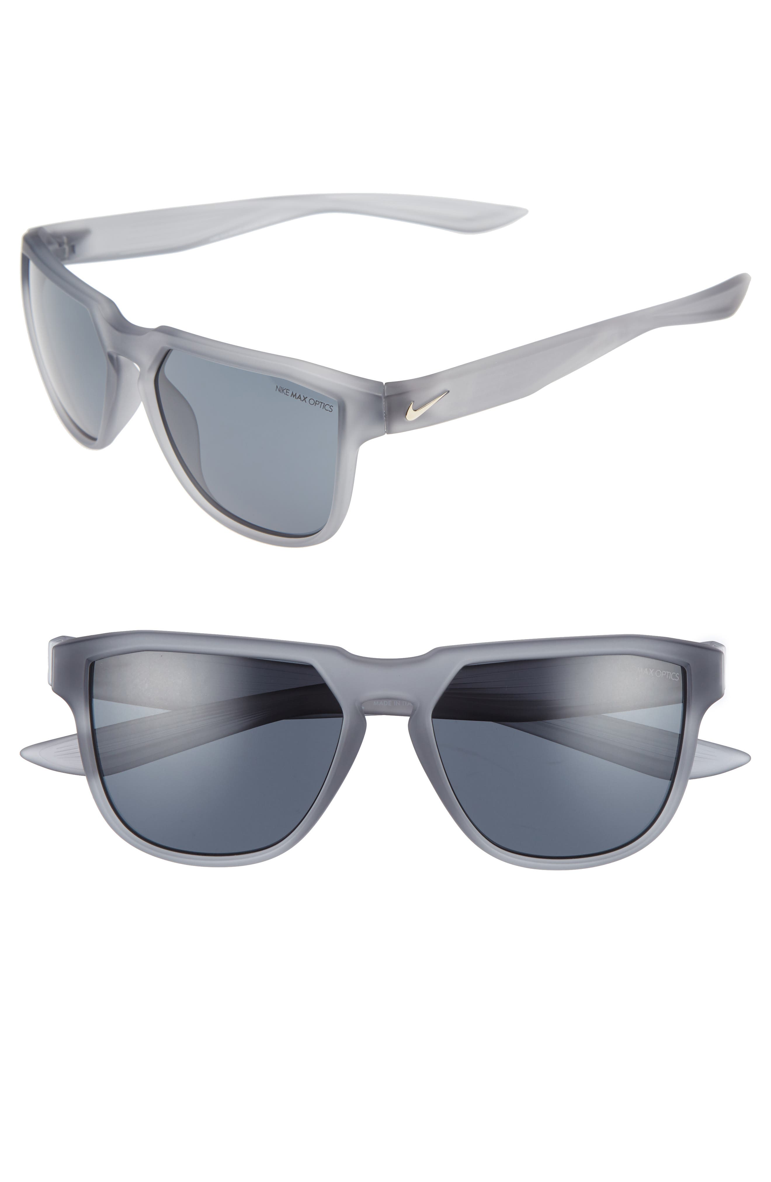 Fly Swift 57mm Sunglasses,                             Main thumbnail 1, color,                             Matte Wolf Grey/ Gold