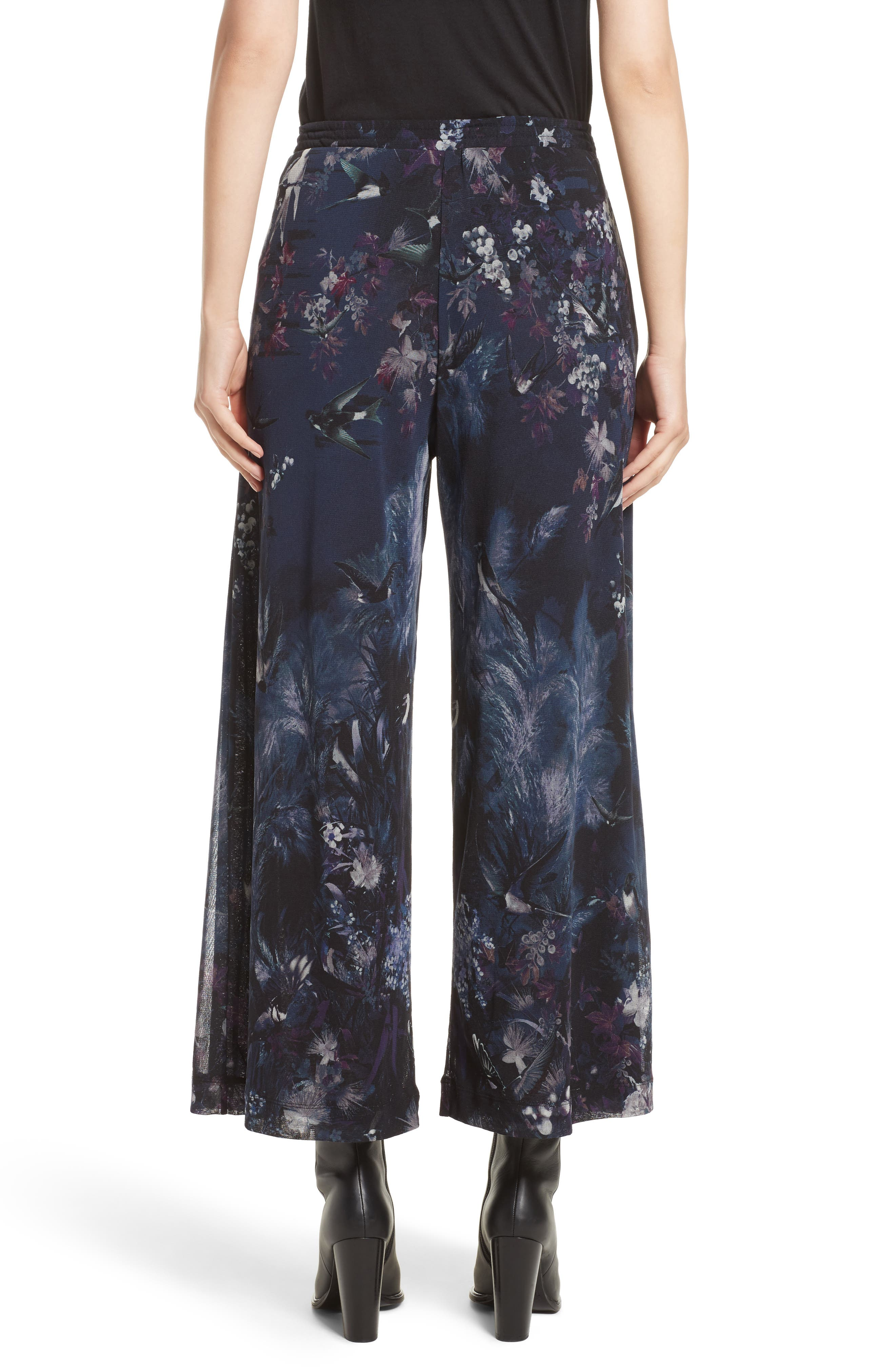 Alternate Image 2  - Fuzzi Floral Print Tulle Belted Karate Pants