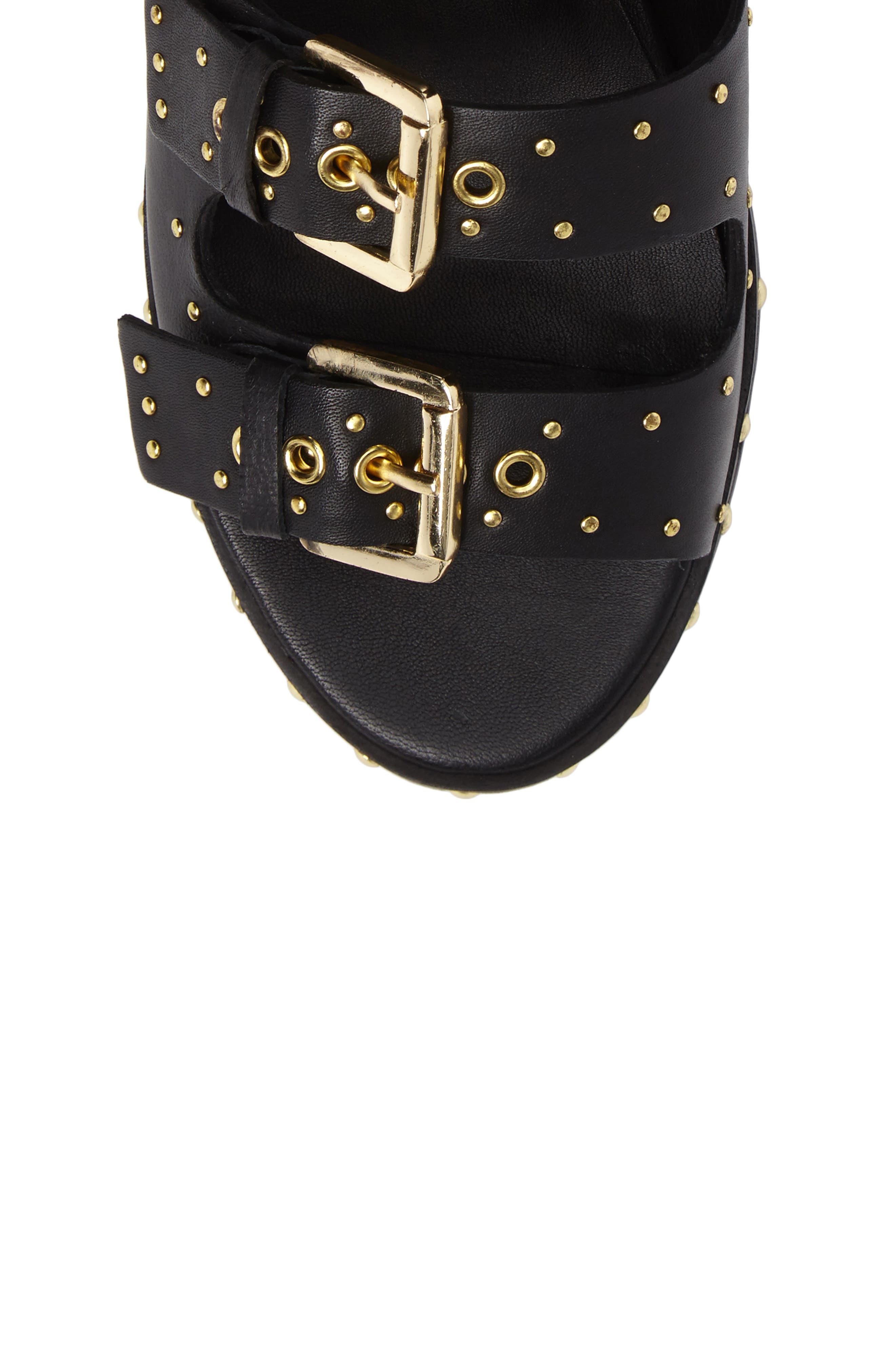 Alternate Image 5  - Topshop Frank Studded Buckle Sandal (Women)