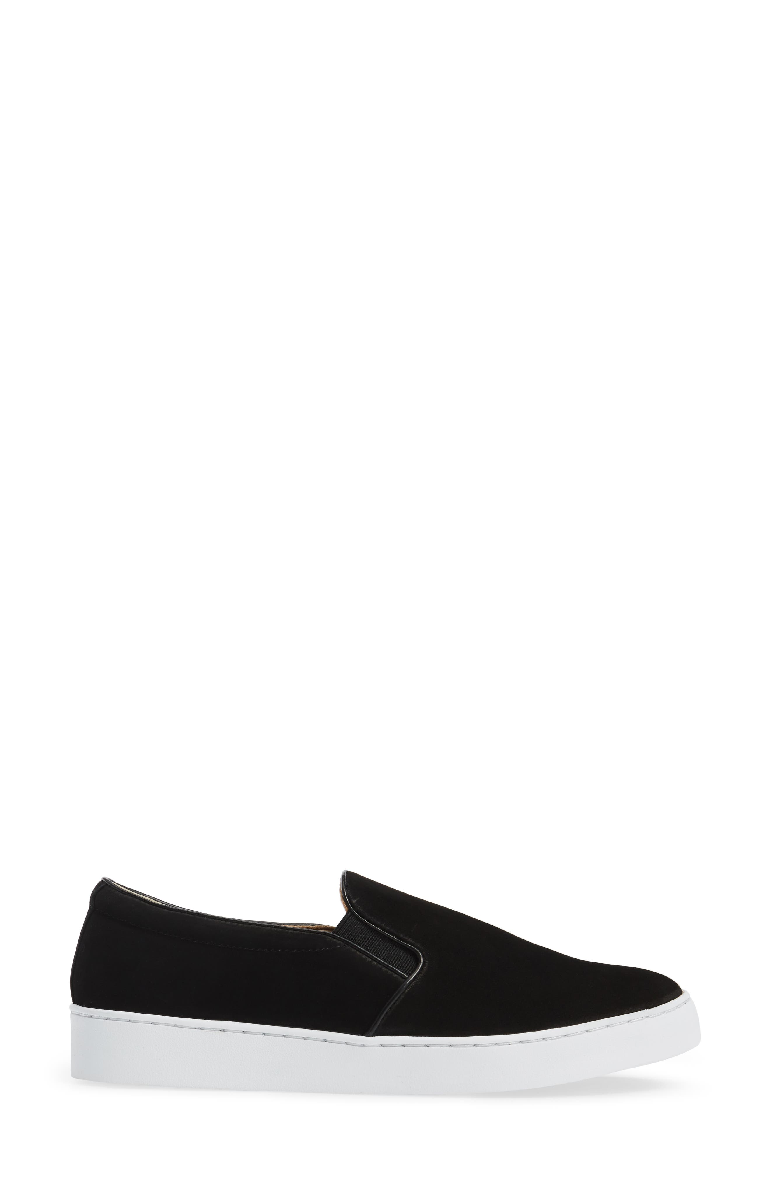 Double Gore Slip-On,                             Alternate thumbnail 3, color,                             Black Suede