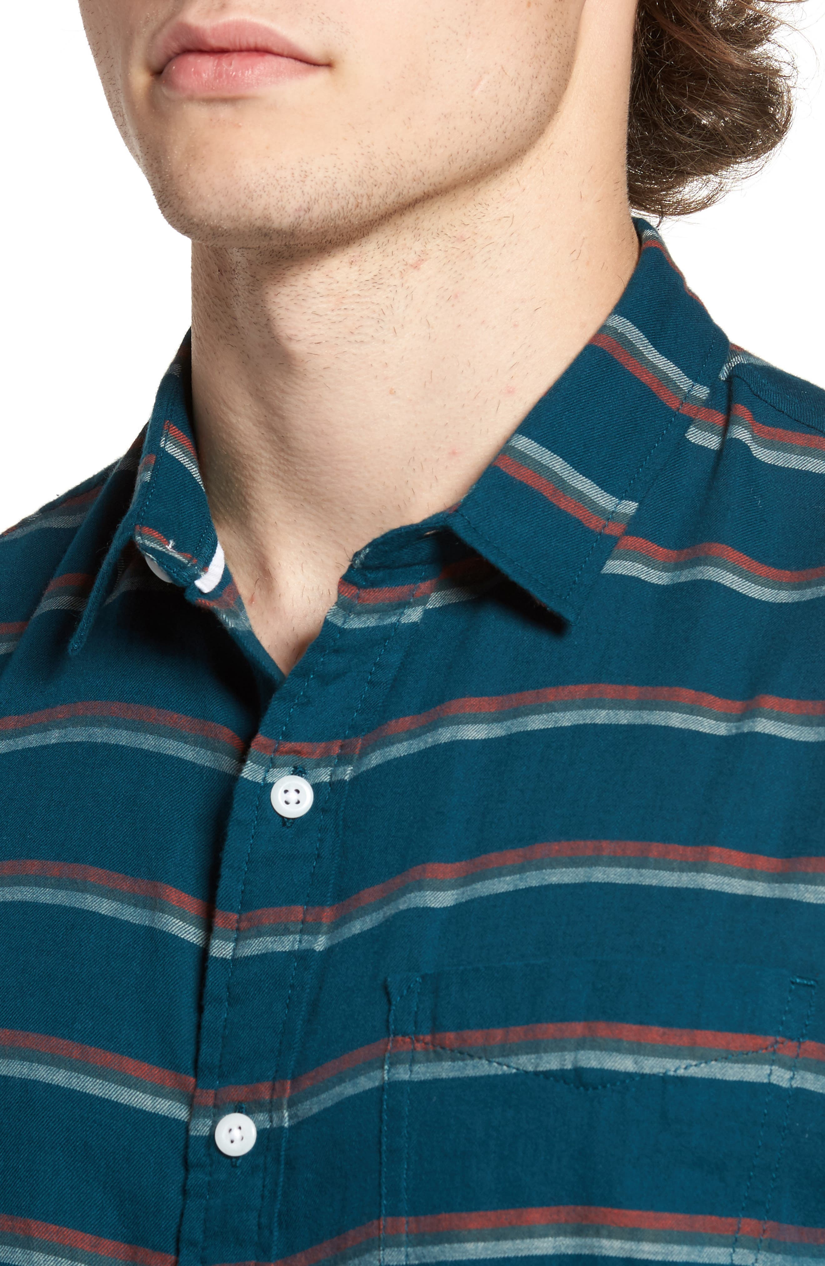 Alternate Image 4  - 1901 Stripe Twill Shirt