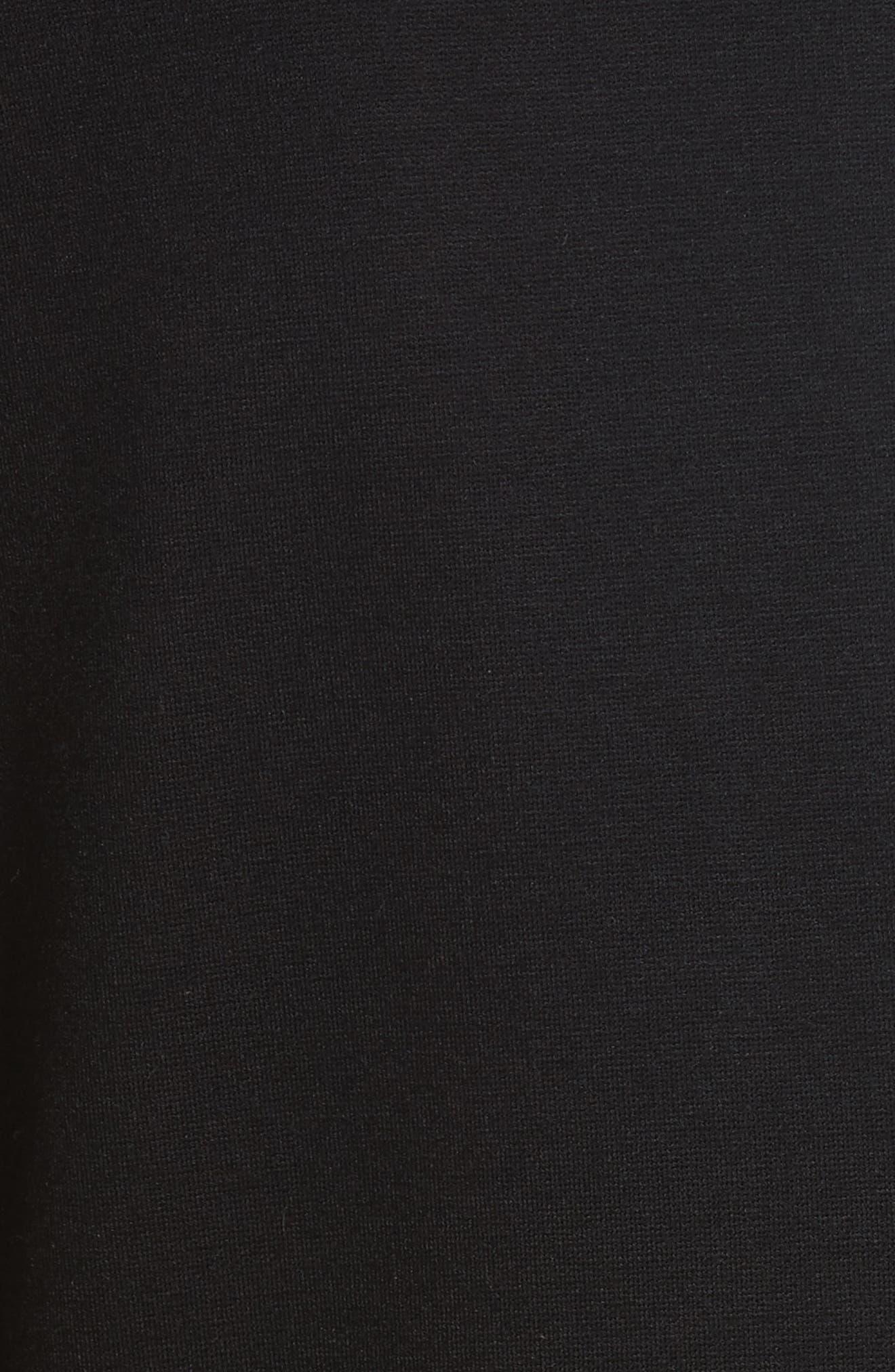 Piped Jersey Blazer,                             Alternate thumbnail 5, color,                             Black/ White