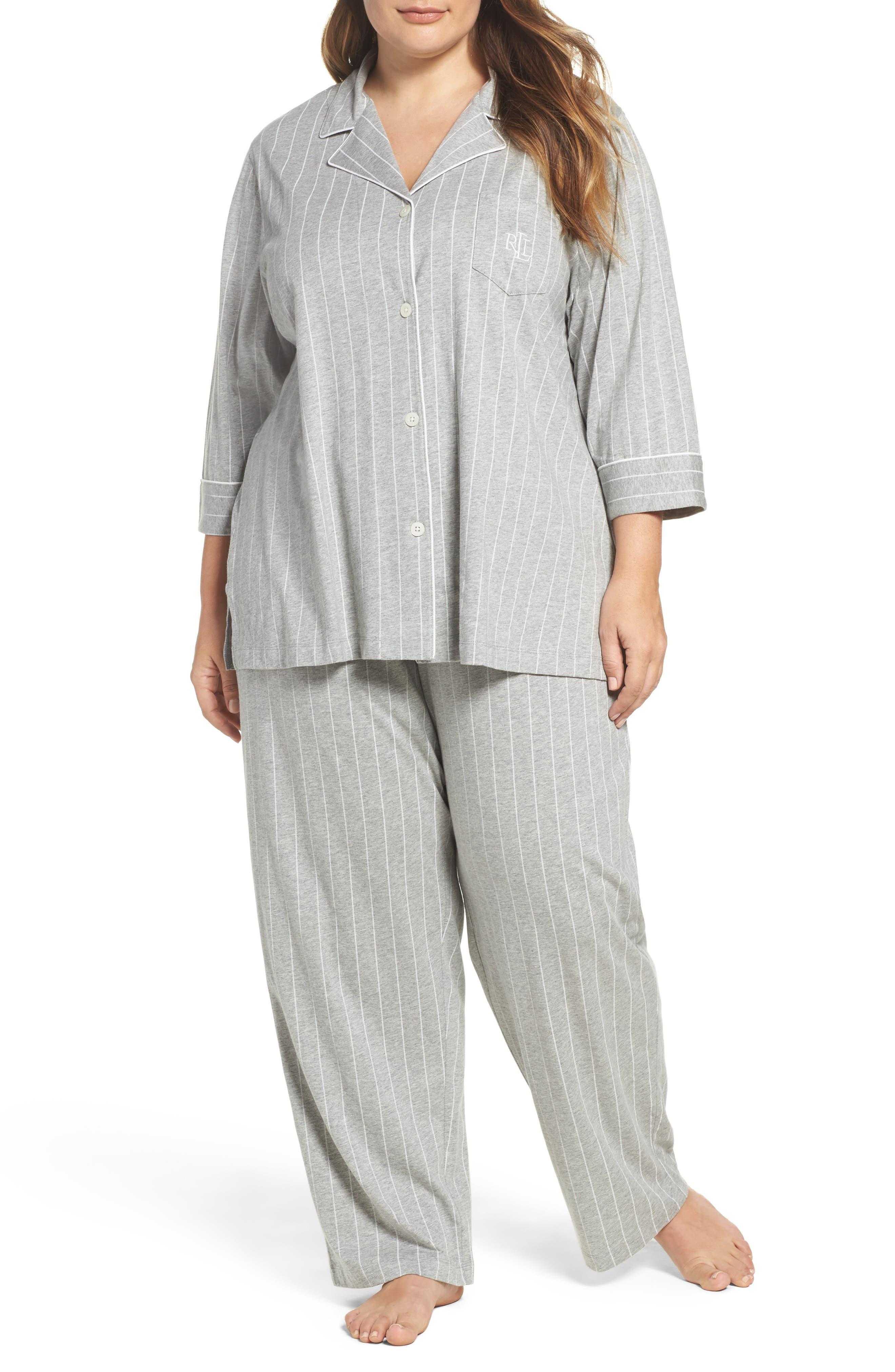 Alternate Image 1 Selected - Lauren Ralph Lauren Pajamas (Plus Size)