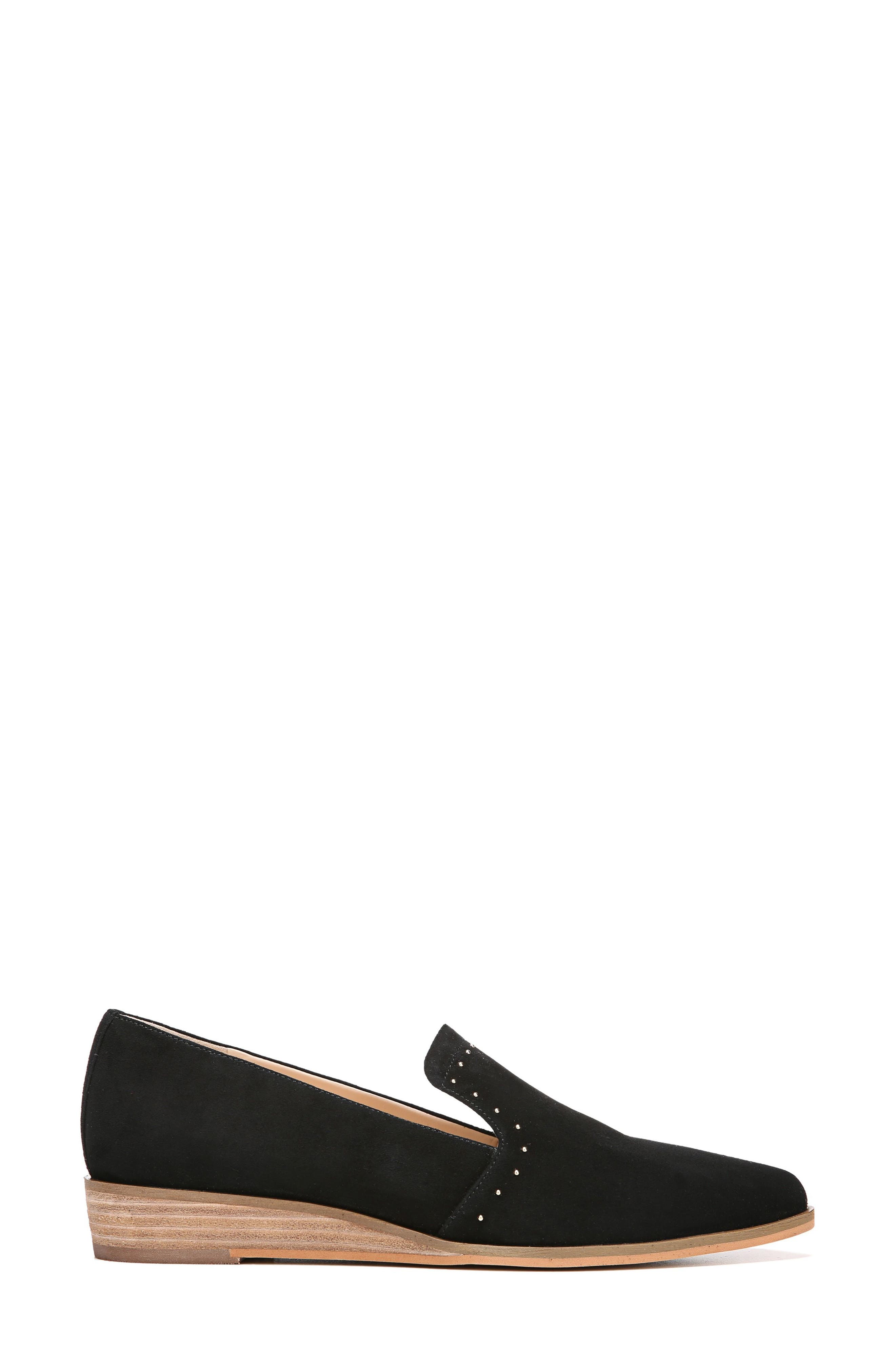 Keane Loafer Wedge,                             Alternate thumbnail 3, color,                             Black Suede