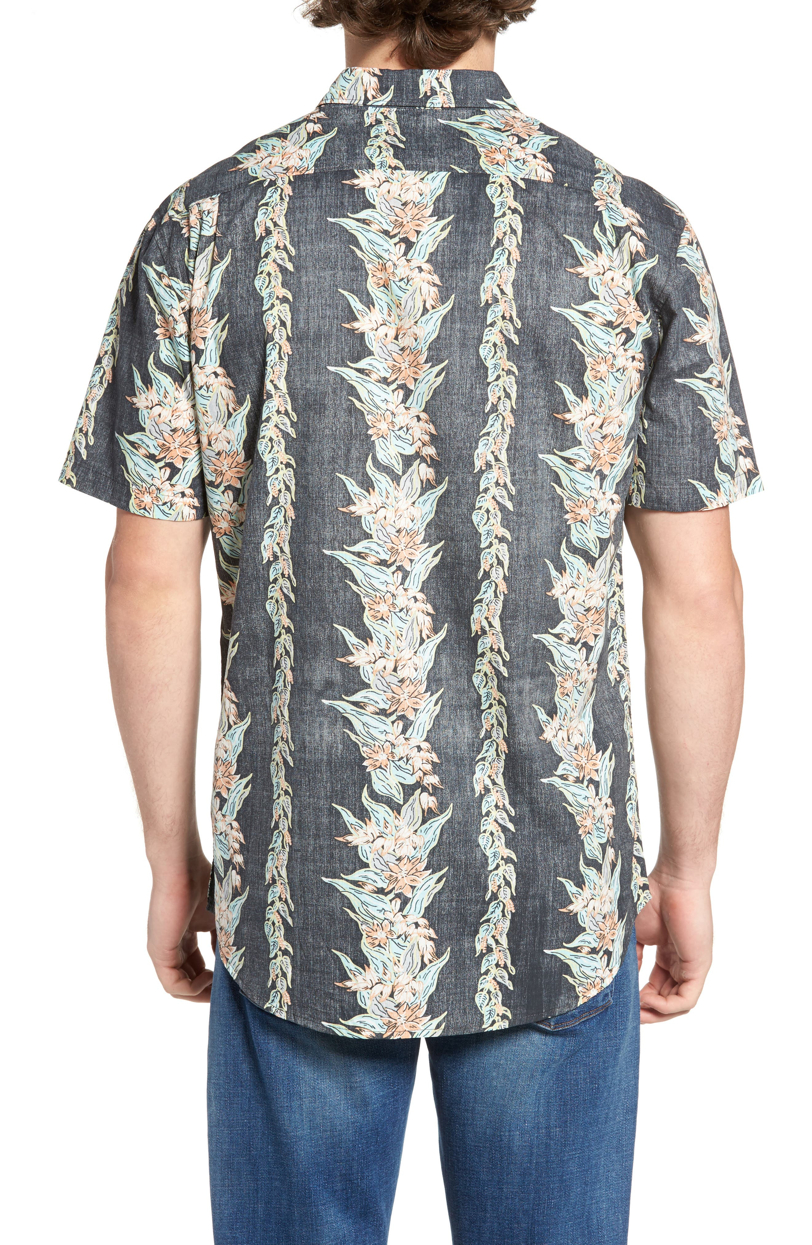 Sundays Floral Woven Shirt,                             Alternate thumbnail 2, color,                             Black