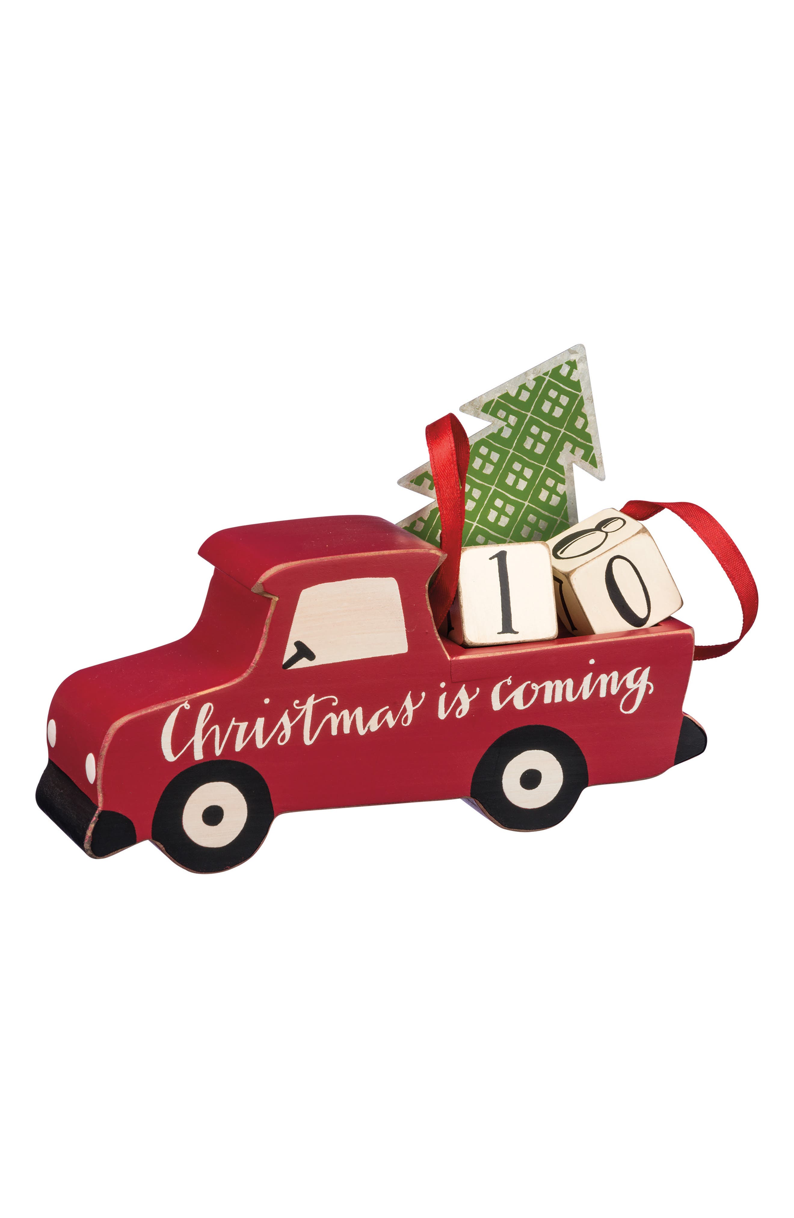 Christmas Countdown Truck,                             Main thumbnail 1, color,                             Red