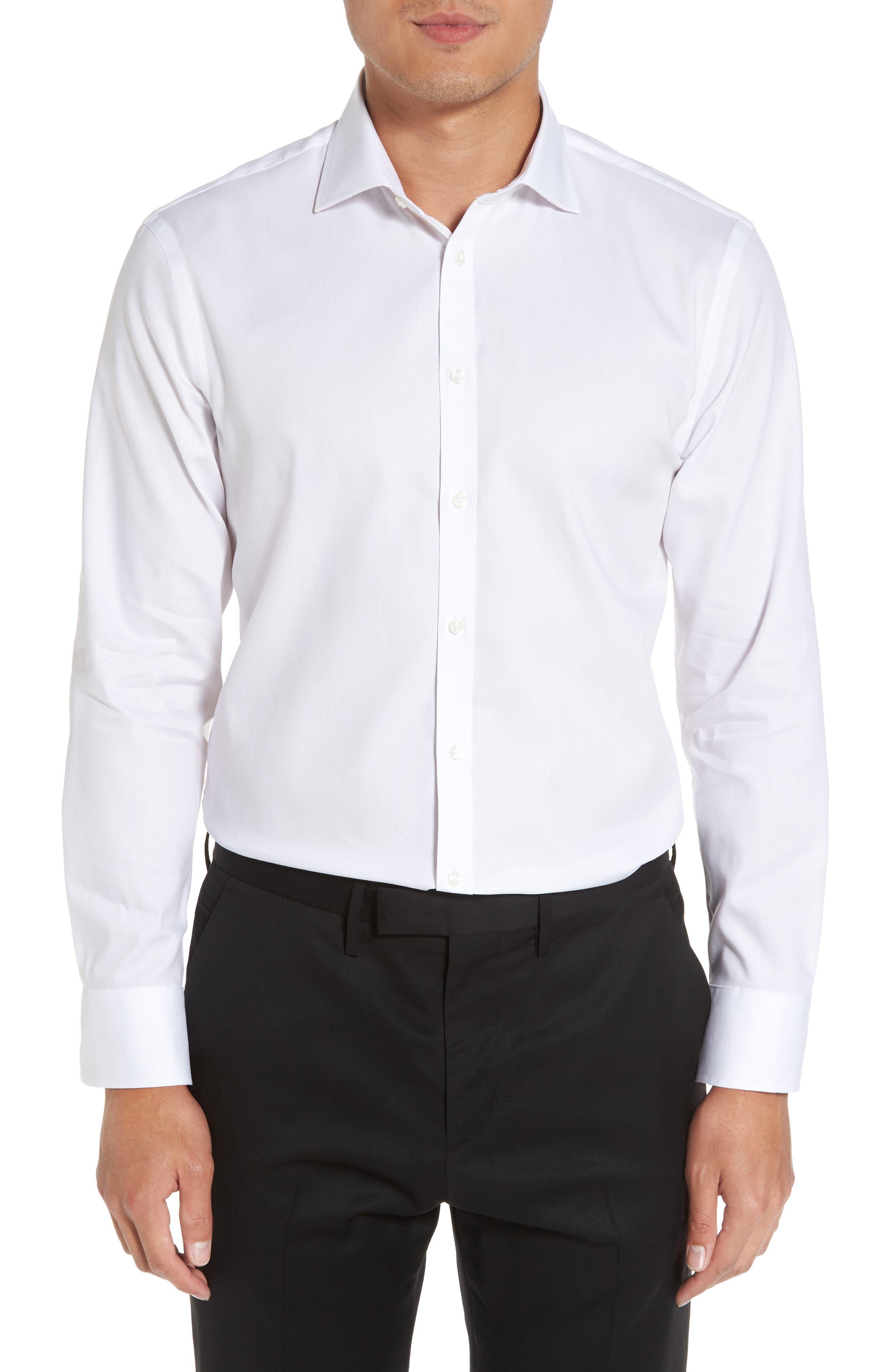 Main Image - Nordstrom Men's Shop Extra Trim Fit Non-Iron Solid Dress Shirt