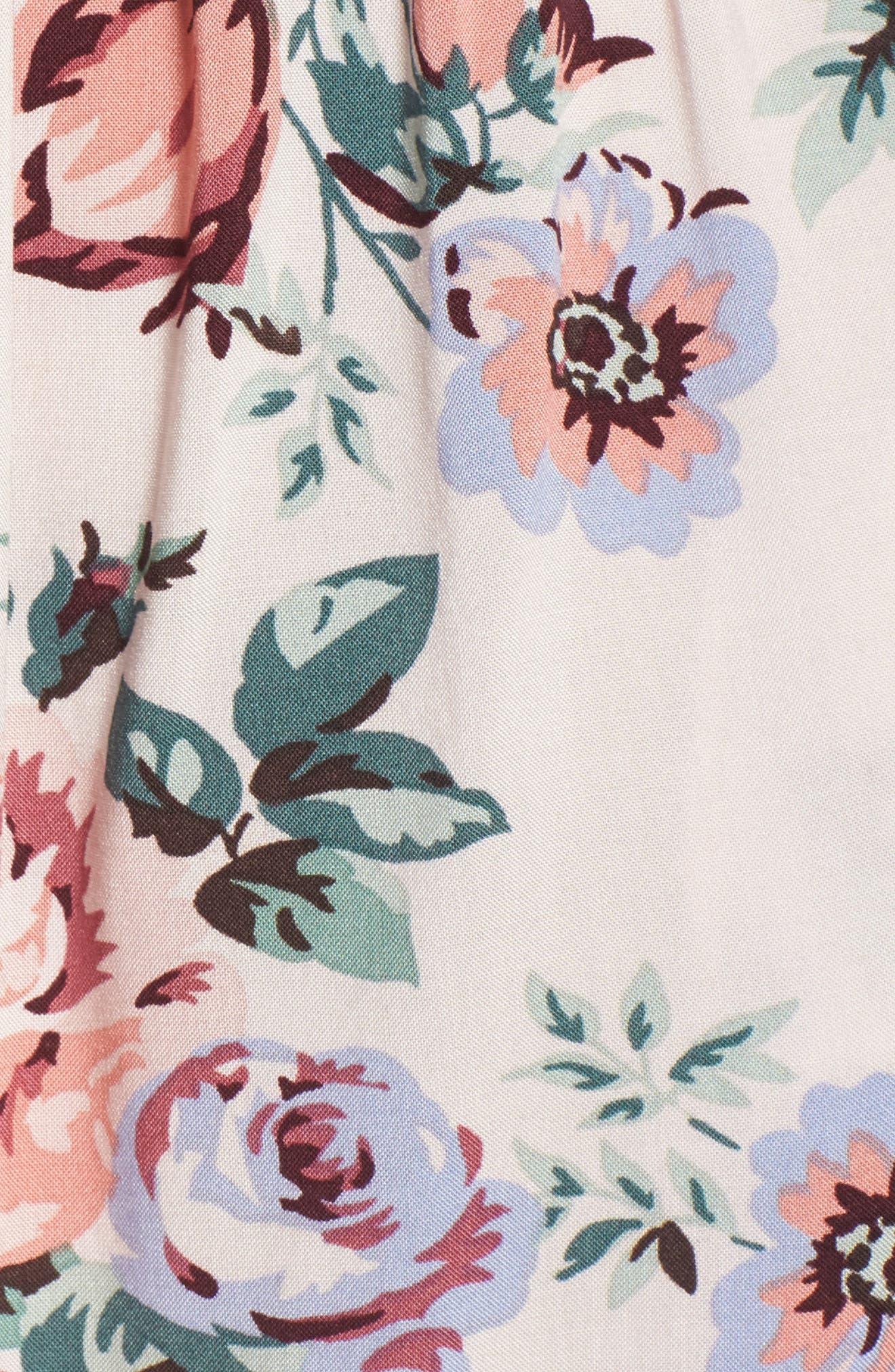 Alternate Image 5  - Mimi Chica Floral Print Off the Shoulder Dress