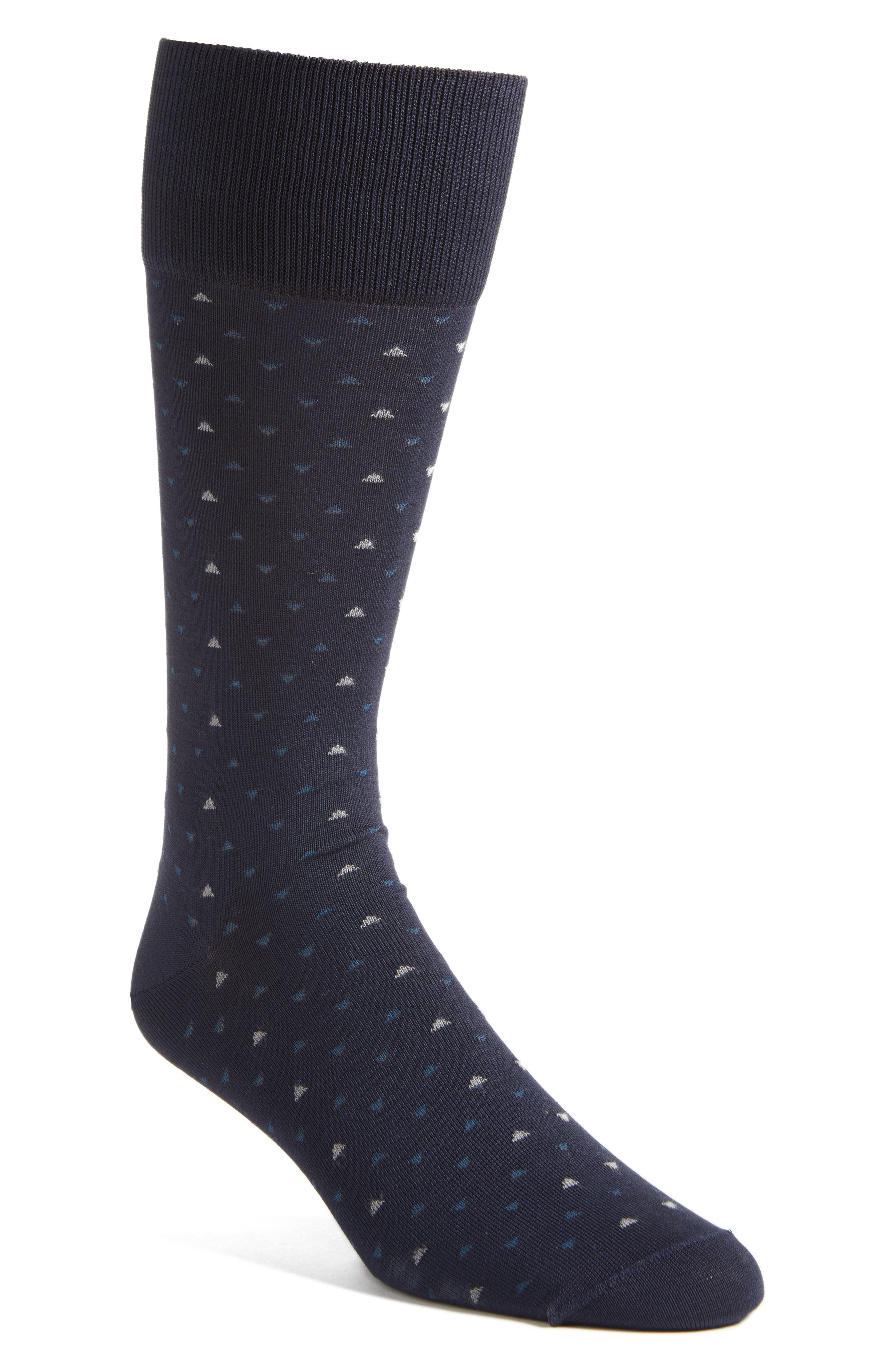 Geometric Socks,                         Main,                         color, Navy/ Taupe