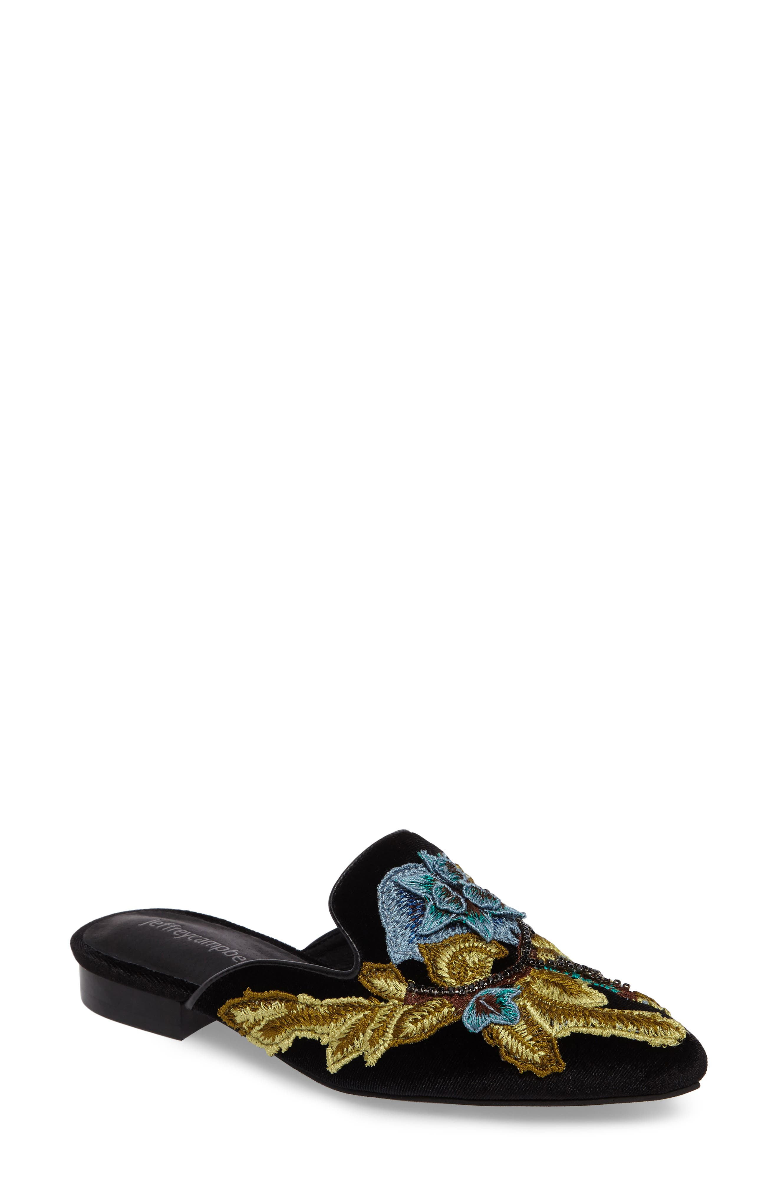 Jeffrey Campbell Claes Appliqué Loafer Mule (Women)