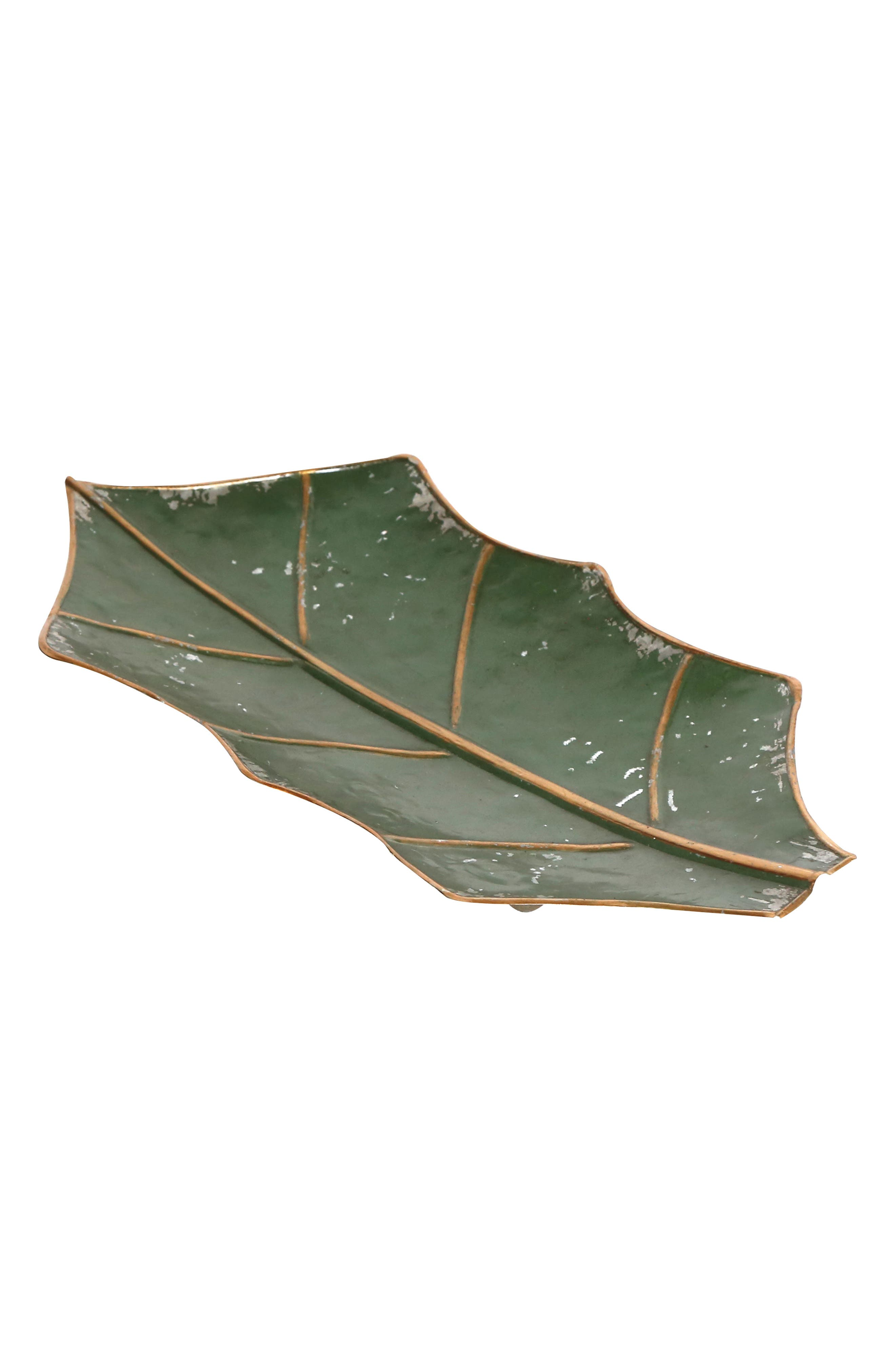 Foreside Holiday Leaf Tray