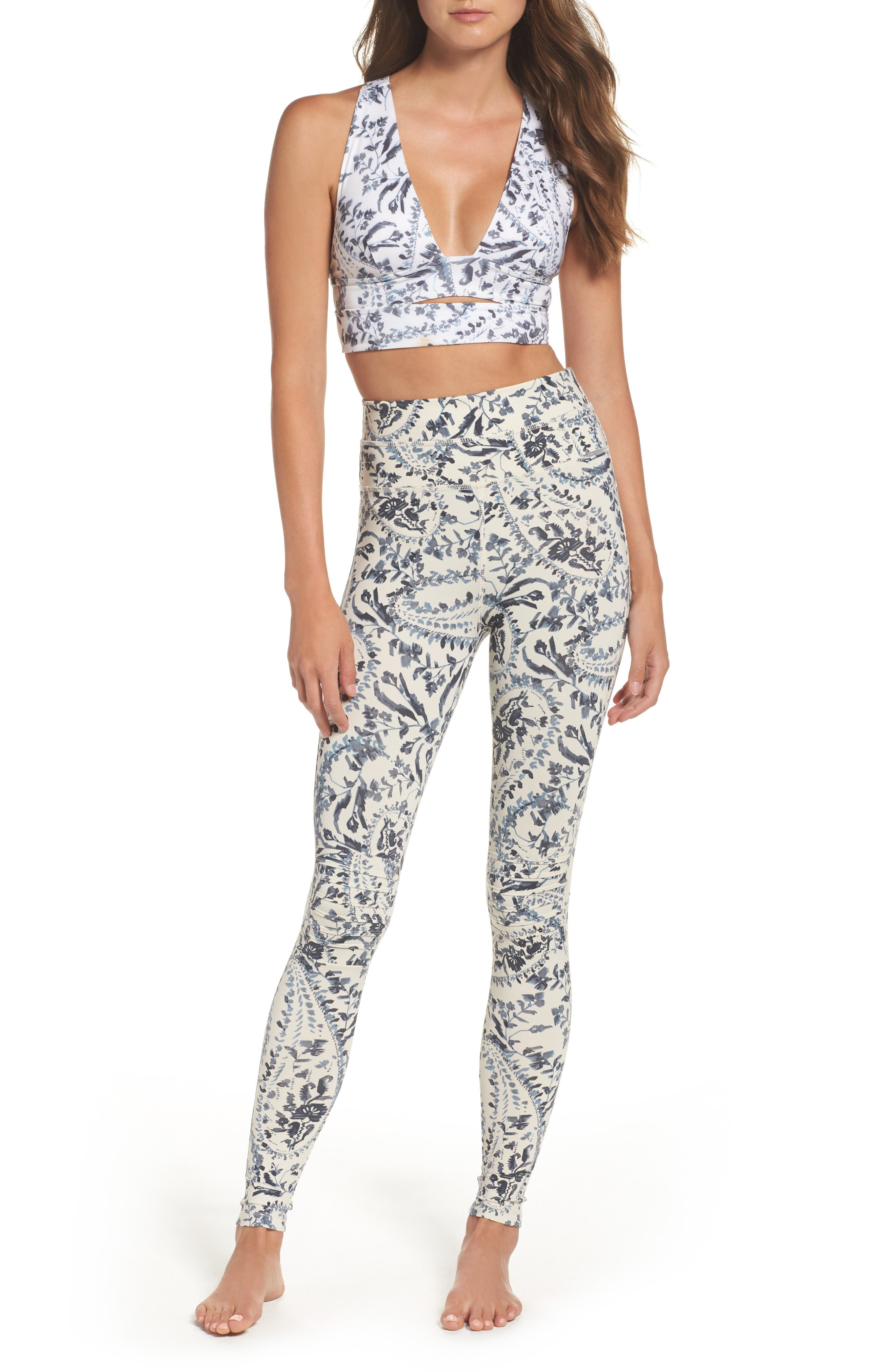 Alternate Image 7  - Free People FP Movement Print City Slicker Longline Sports Bra