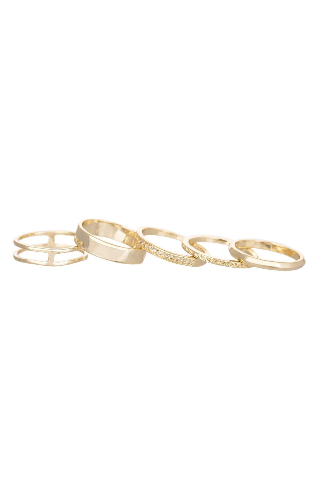 Kendra Scott 'Kara' Stackable Midi Rings (Set of 5)