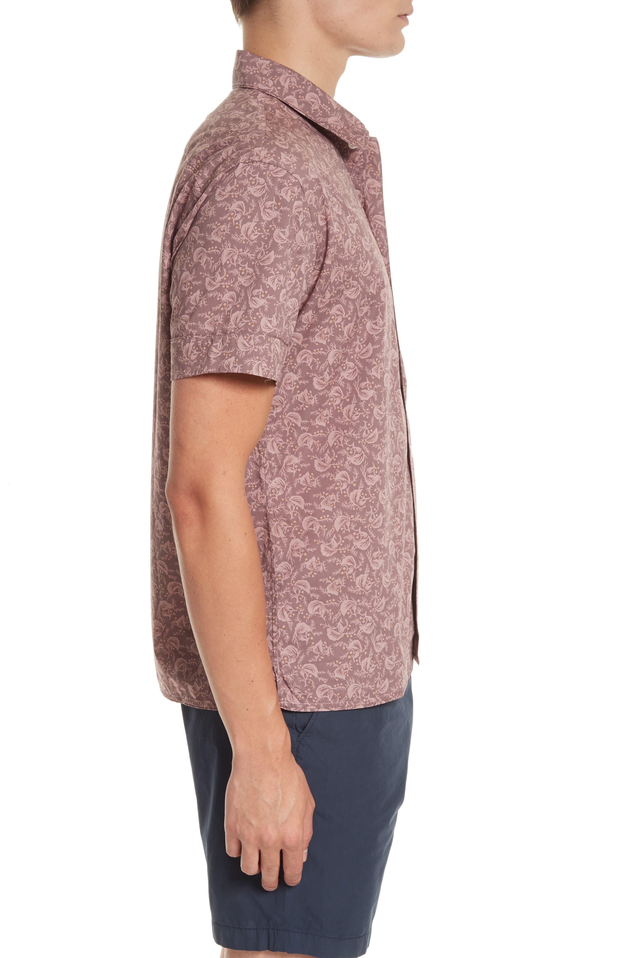 Alternate Image 3  - Burberry Borrows Slim Fit Print Sport Shirt