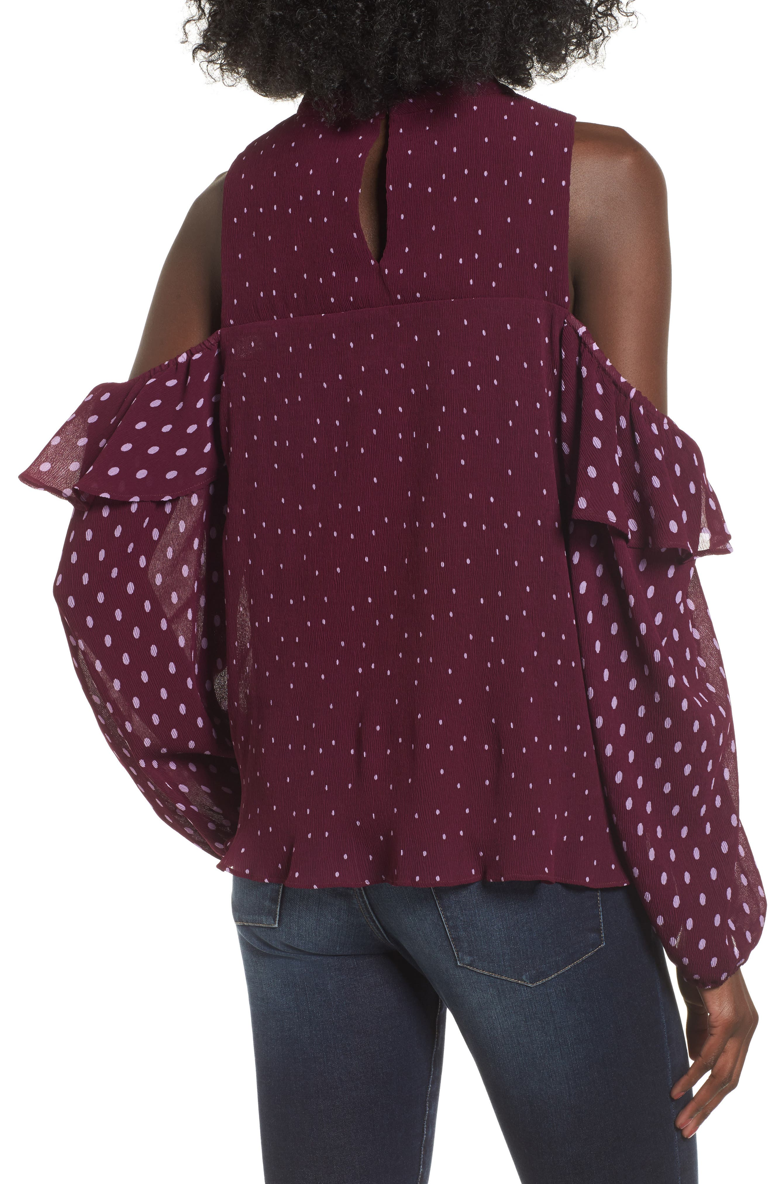 Alternate Image 2  - devlin Savannah Cold Shoulder Blouse