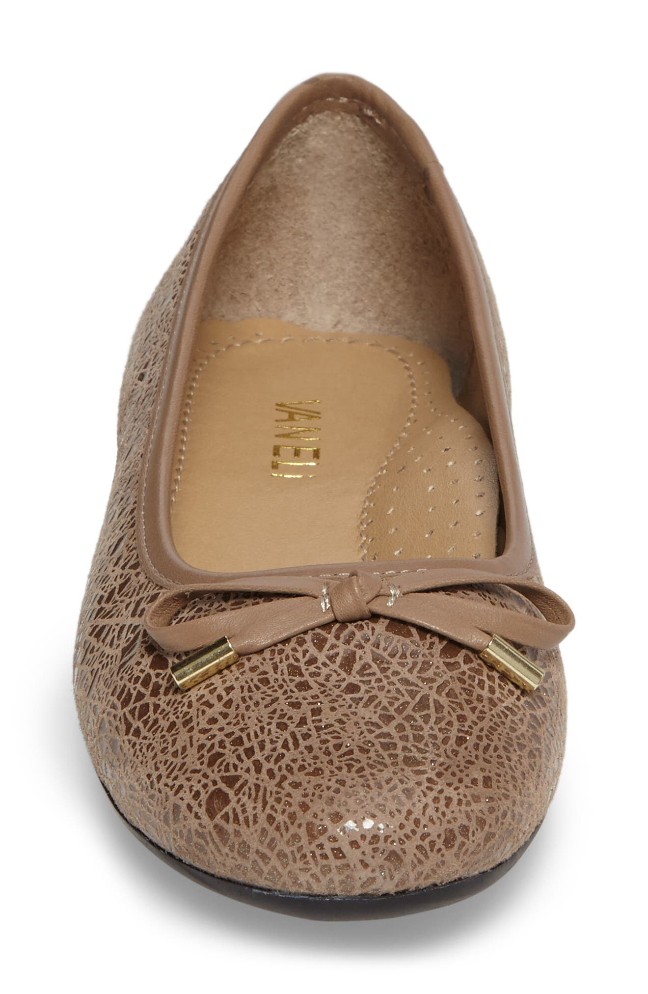 'Signy' Ballet Flat,                             Alternate thumbnail 3, color,                             Taupe Print Leather