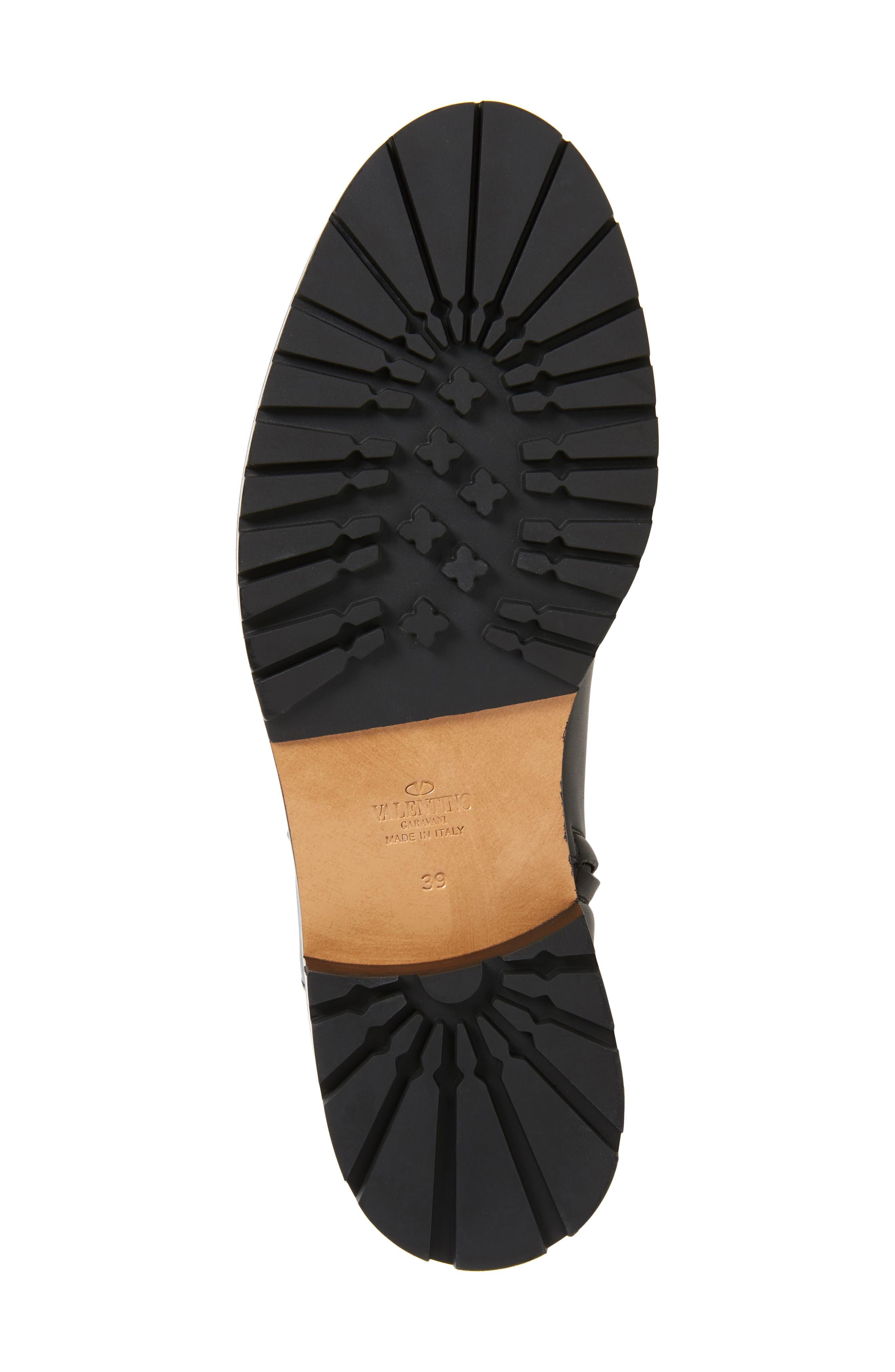 Bowrap Knee-High Boot,                             Alternate thumbnail 6, color,                             Black