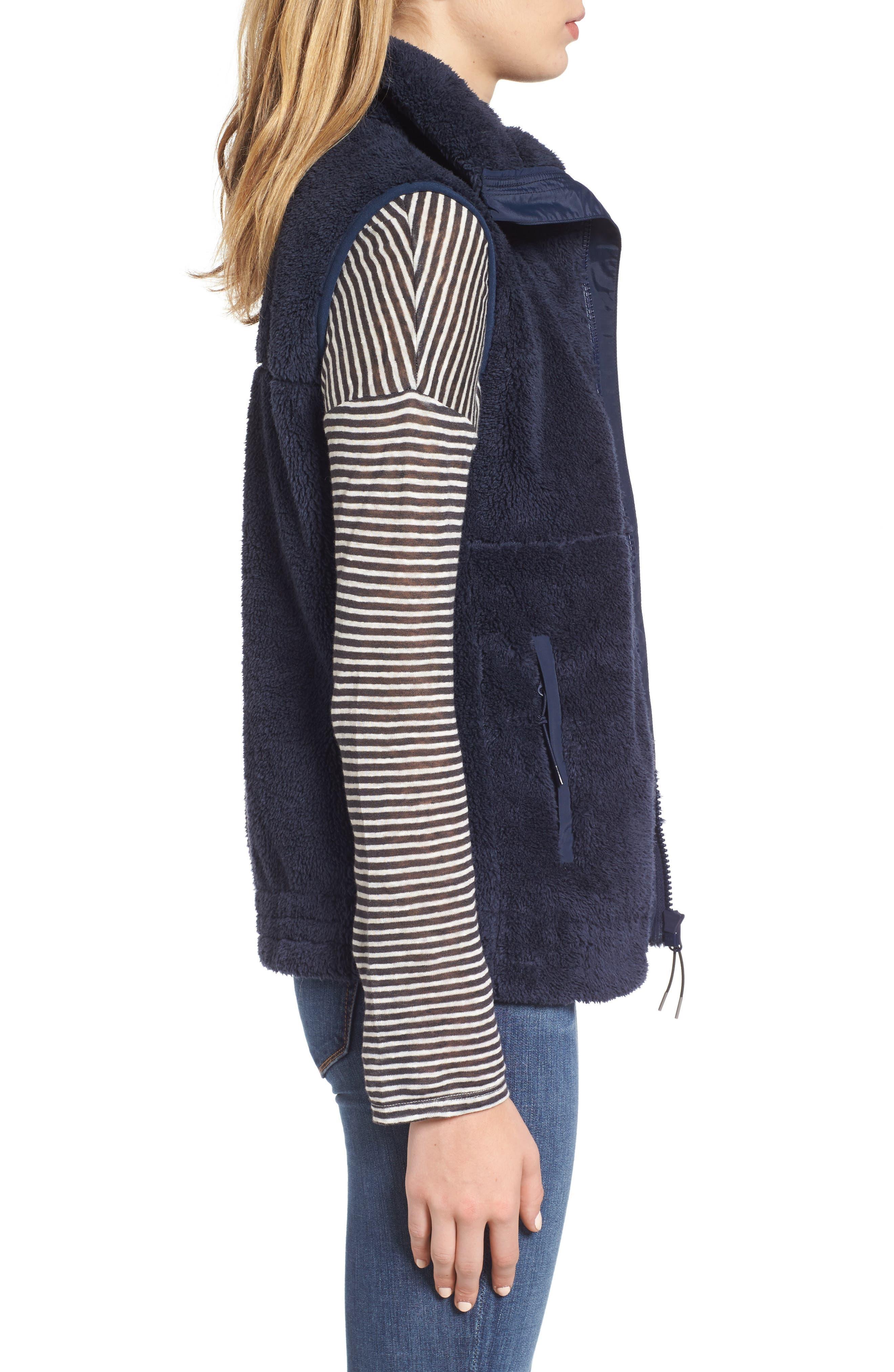 Fleece Vest,                             Alternate thumbnail 3, color,                             Navy