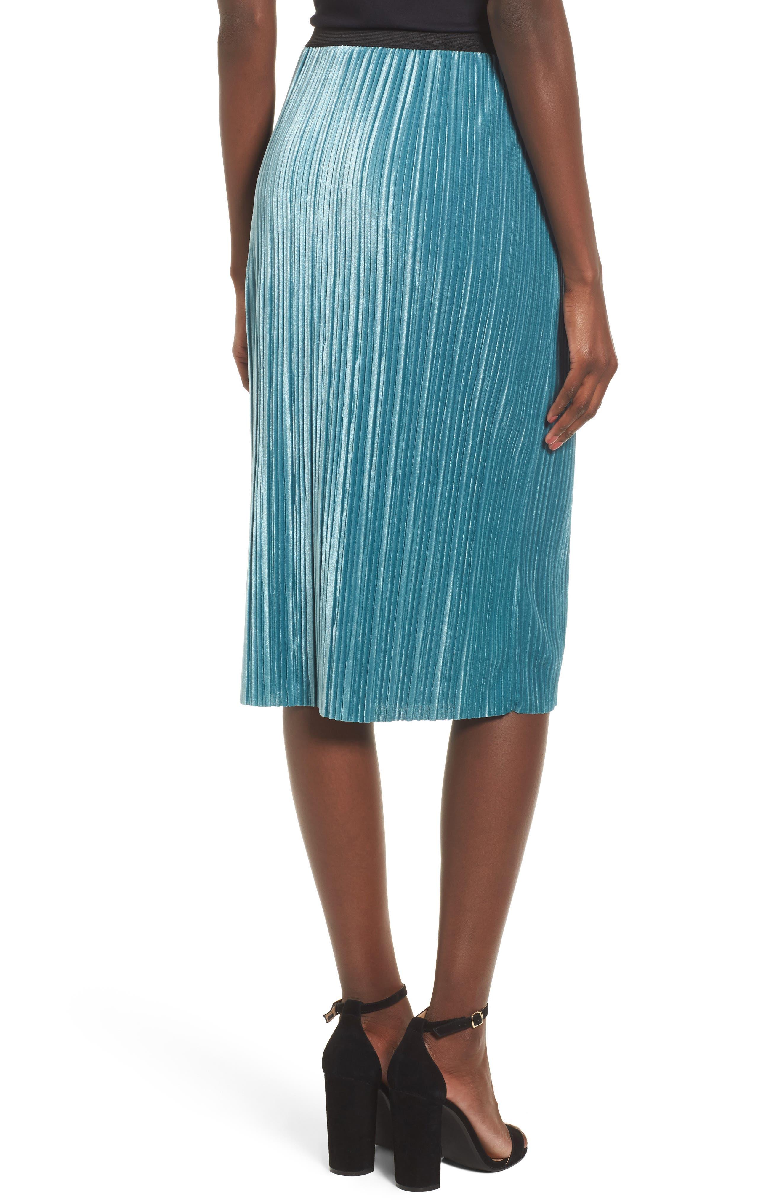 Alternate Image 2  - Leith Velour Pencil Skirt