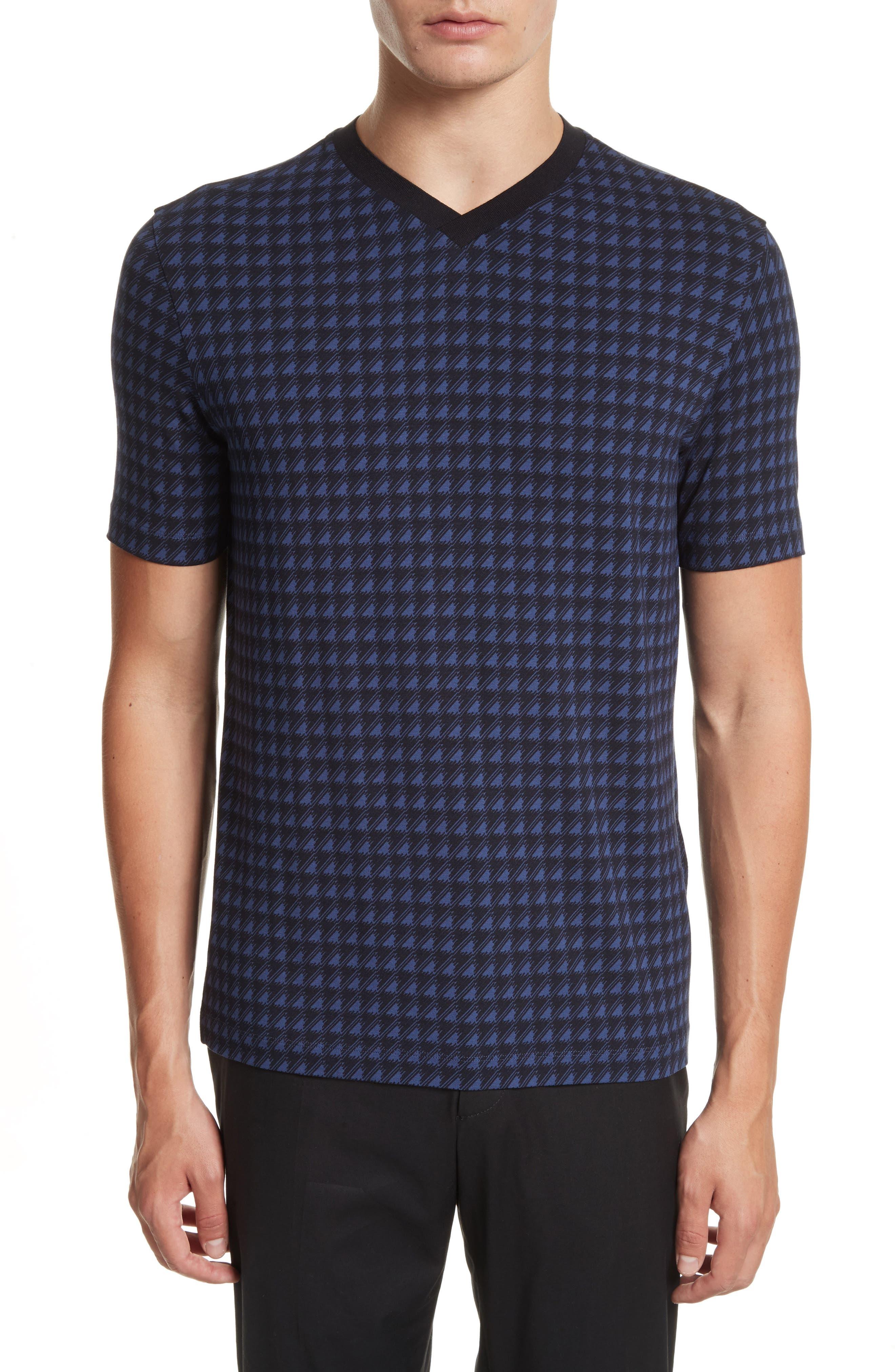 Main Image - Armani Collezioni High V-Neck T-Shirt