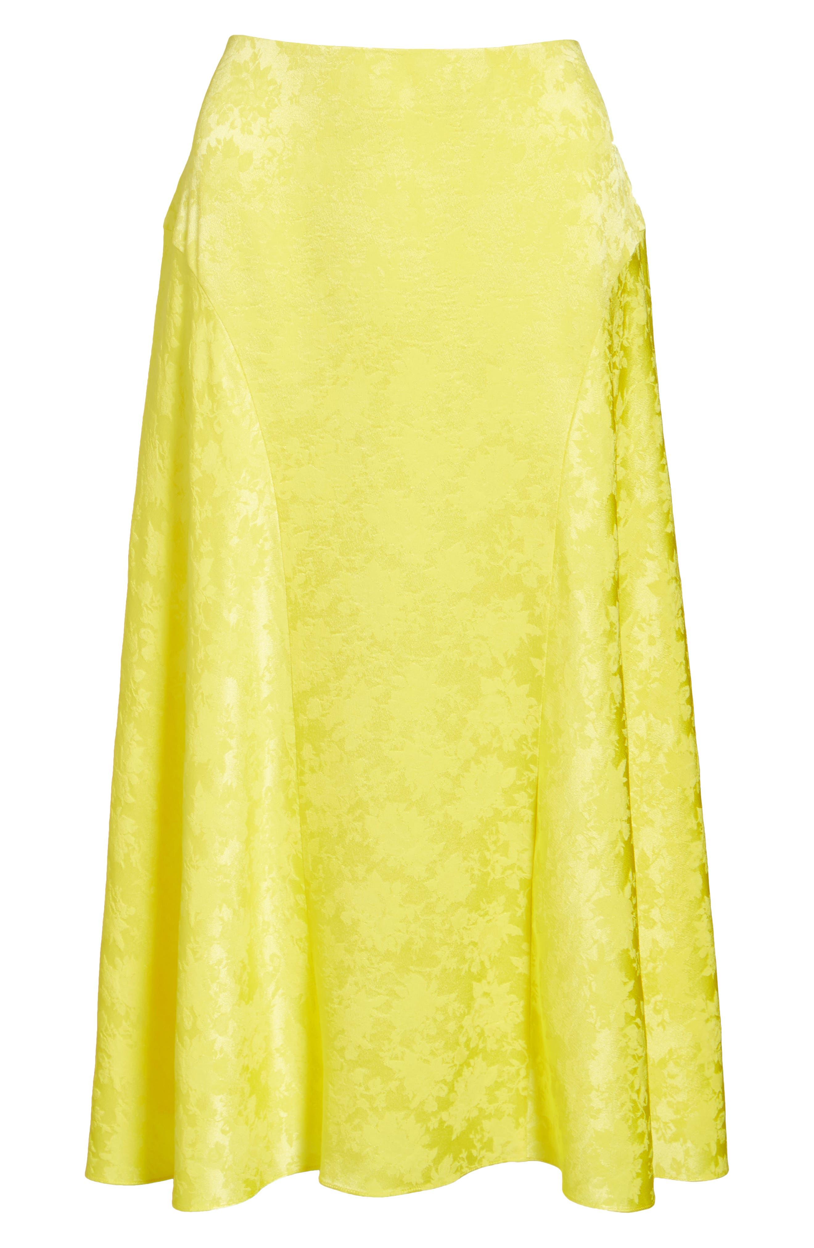Alternate Image 6  - Lewit Jacquard Silk Midi Skirt