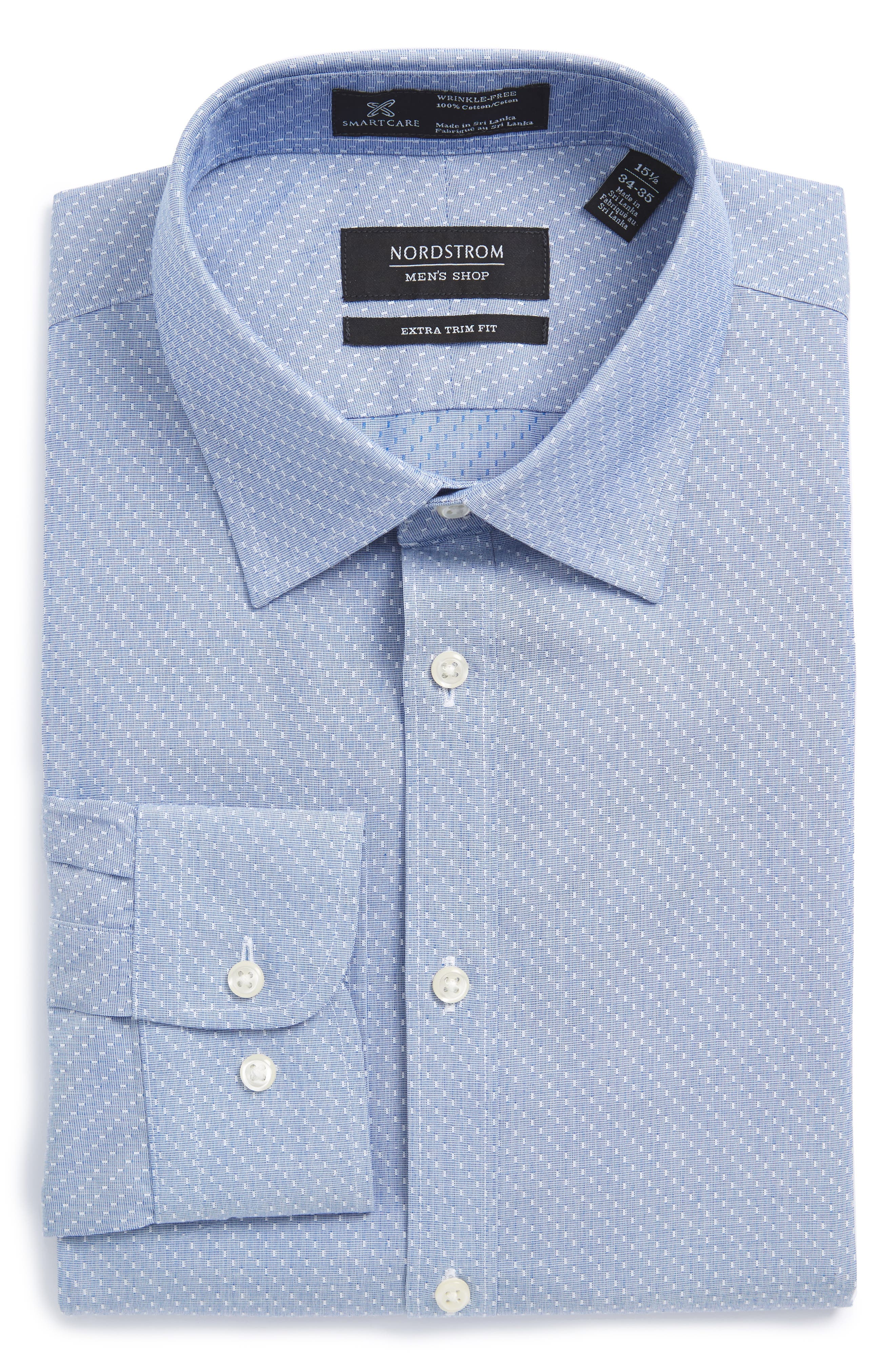 Nordstrom Men's Shop Smartcare™ Extra Trim Fit Dobby Dress Shirt
