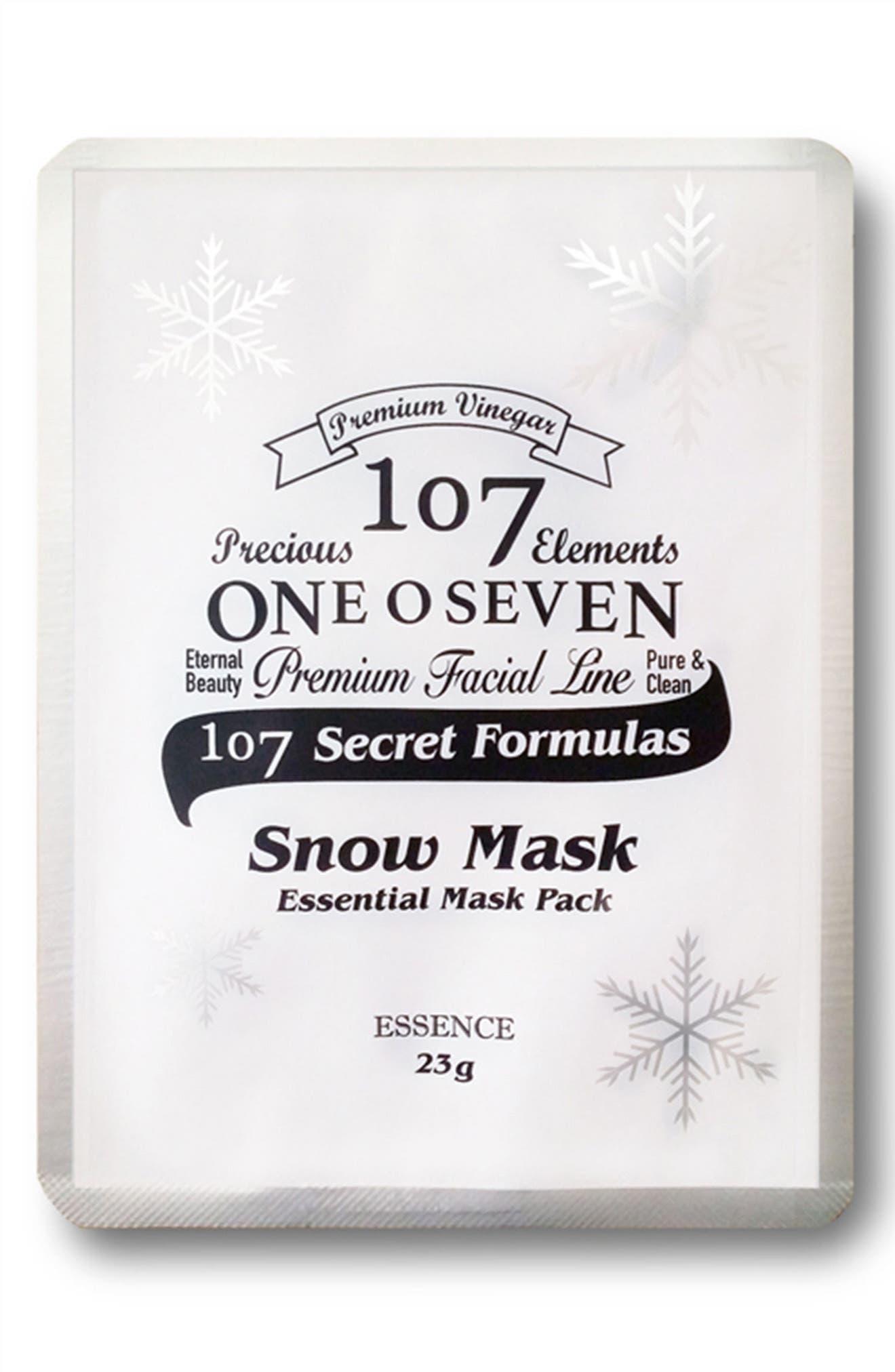 Main Image - 107 ONEOSEVEN Set of 8 Snow Sheet Masks