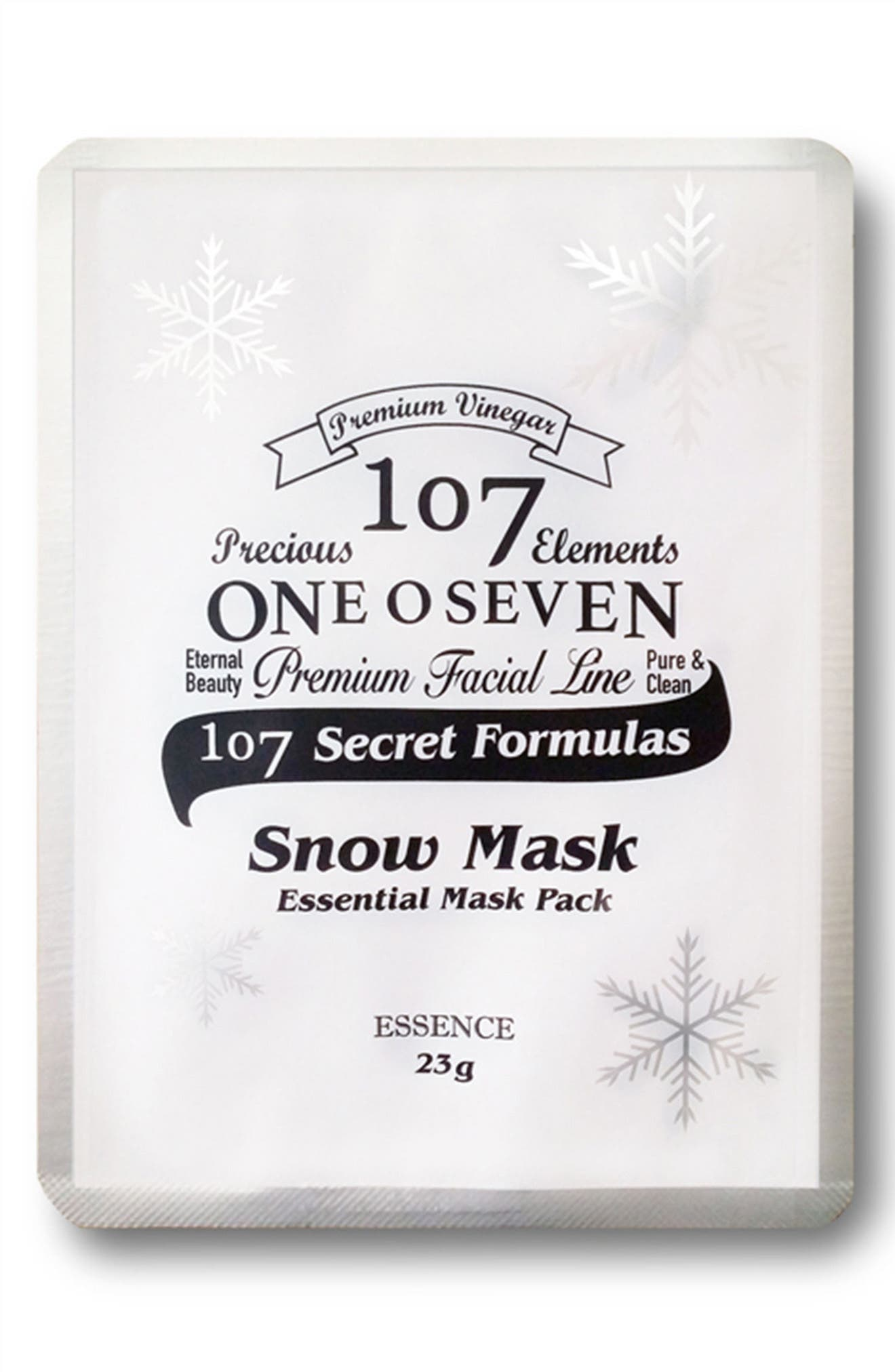 107 ONEOSEVEN Set of 8 Snow Sheet Masks