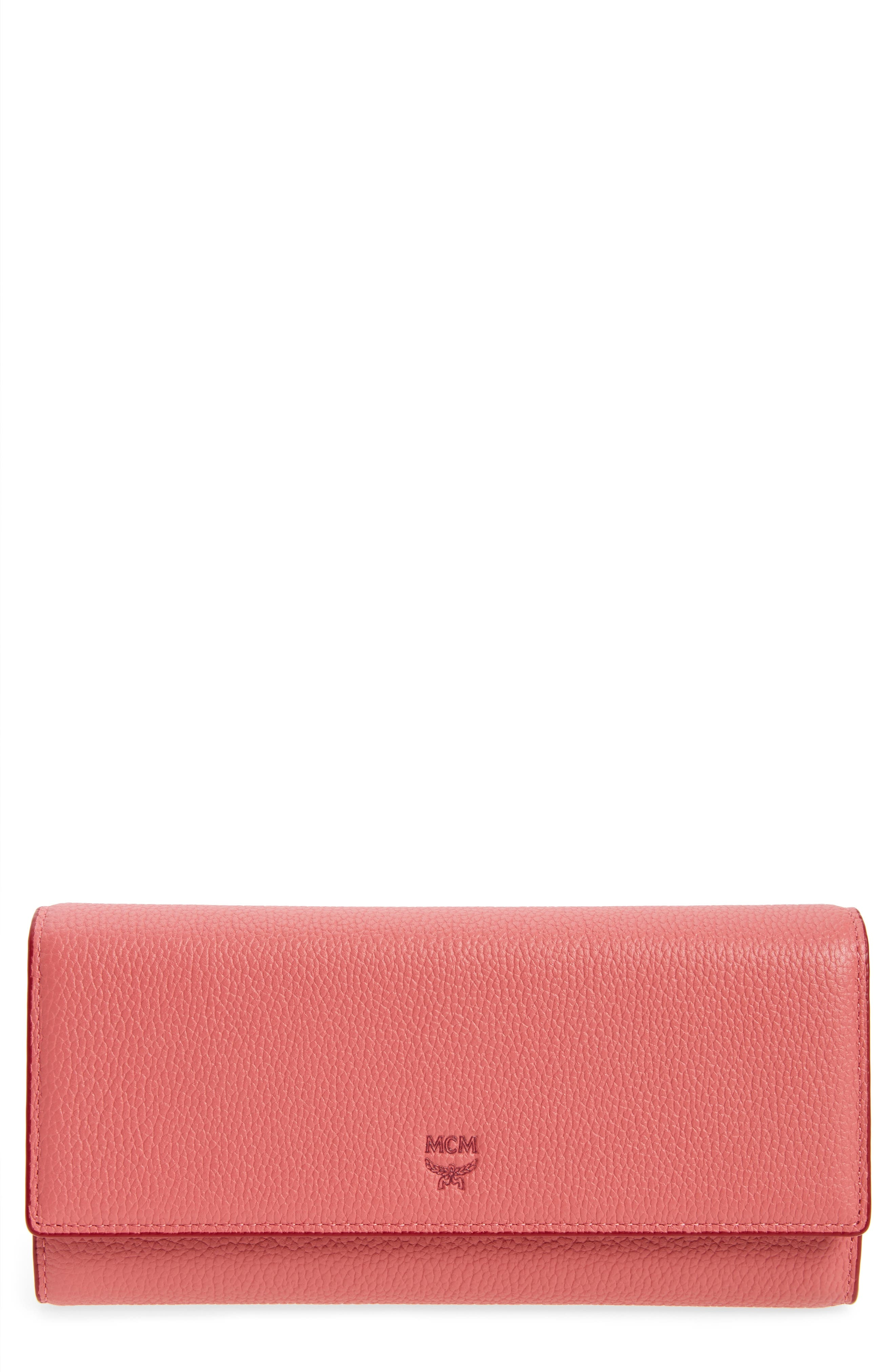 MCM Milla Leather Trifold Wallet