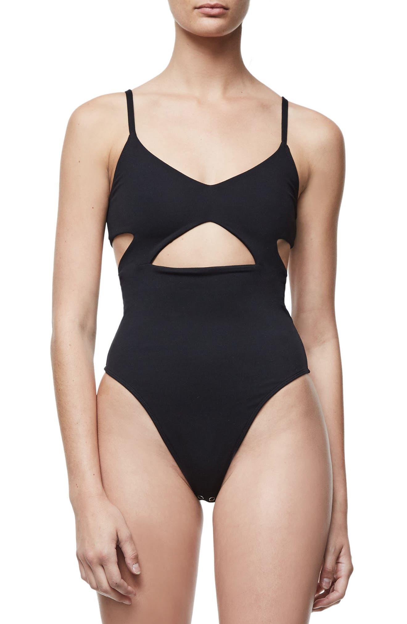 Alternate Image 3  - Good Body Cami Cutout Bodysuit (Regular & Plus Size)