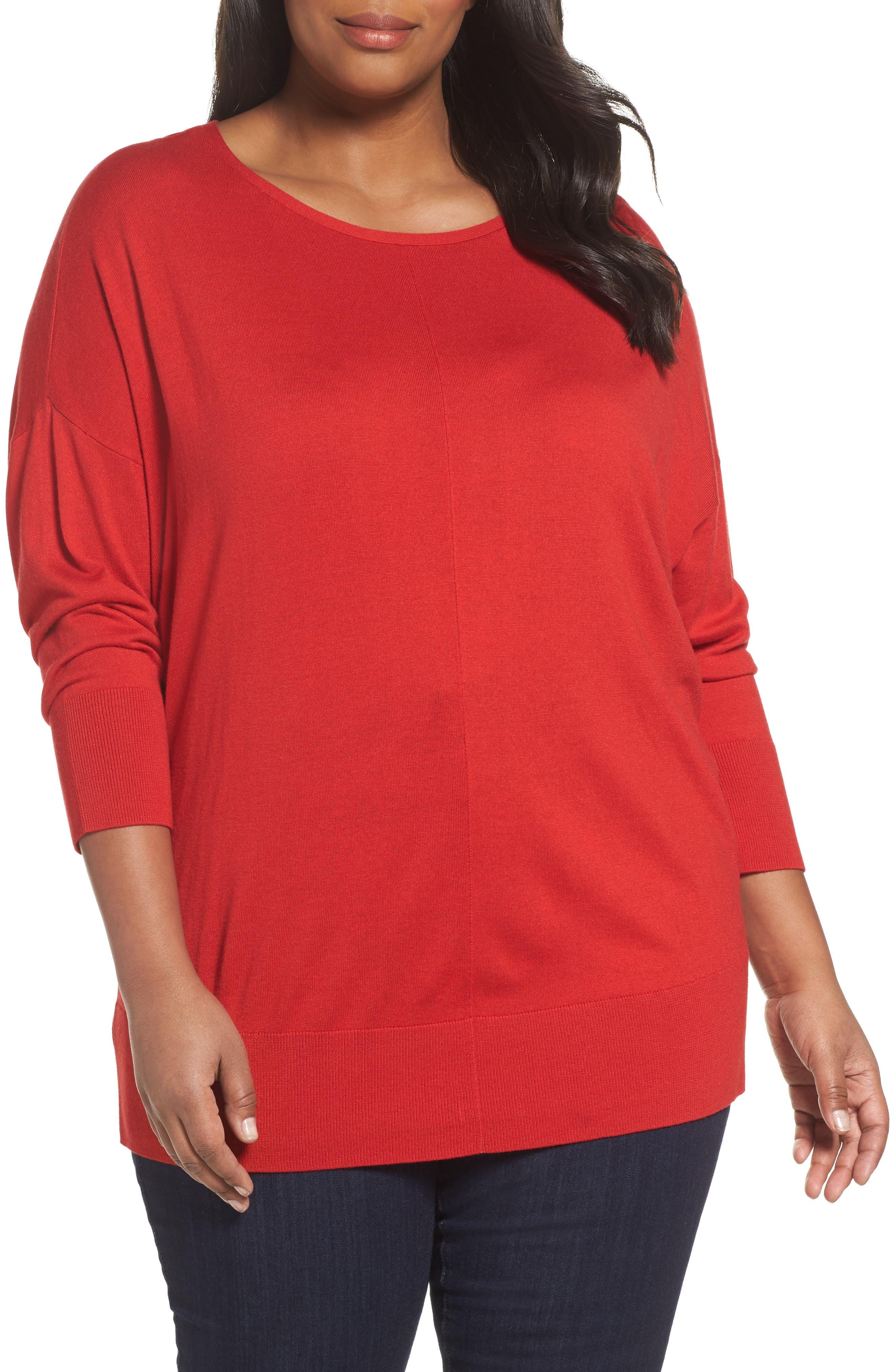 Alternate Image 1 Selected - Sejour Dolman Sleeve Sweater (Plus Size)