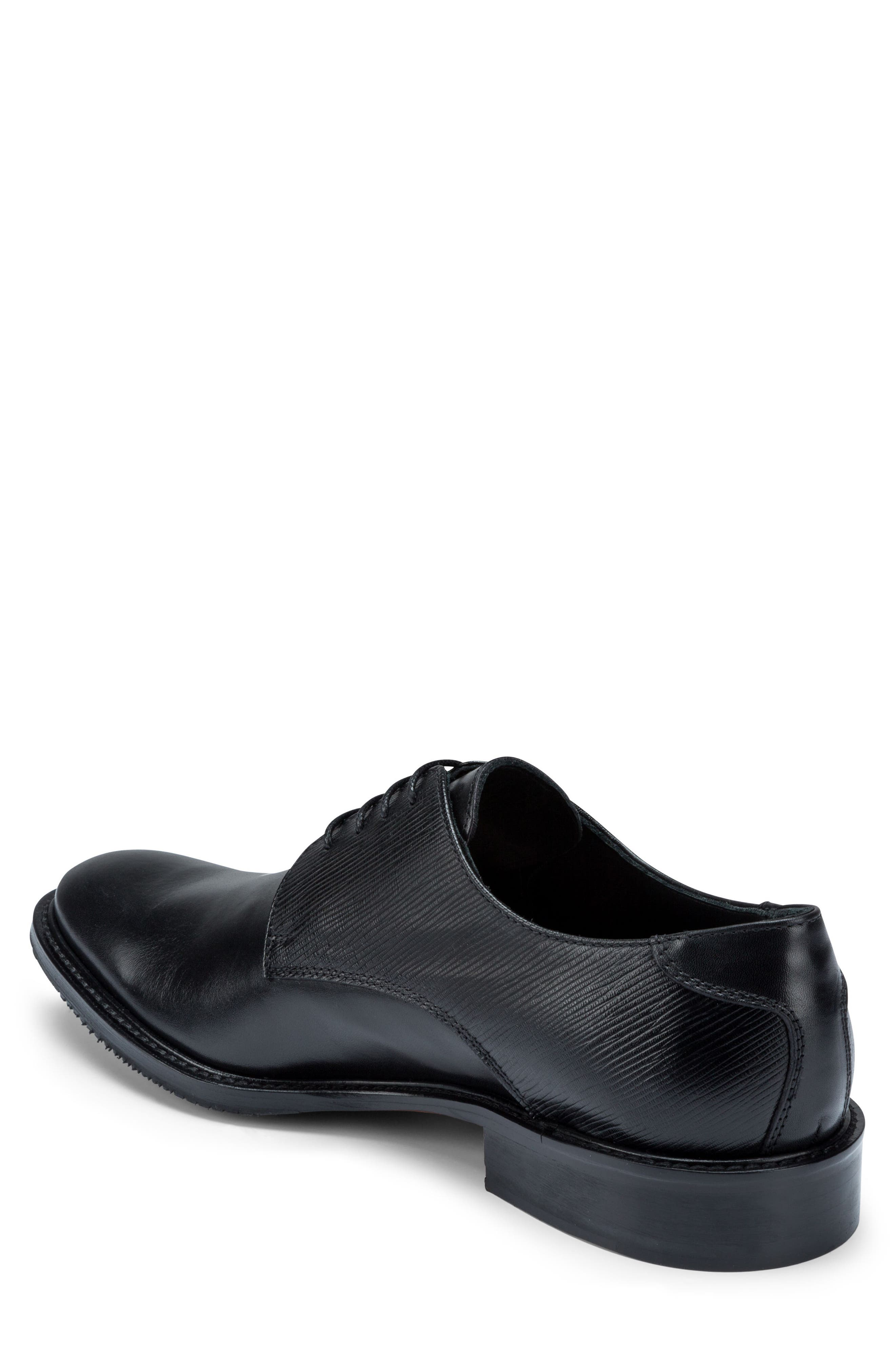 Sorrento Plain Toe Derby,                             Alternate thumbnail 2, color,                             Nero Leather