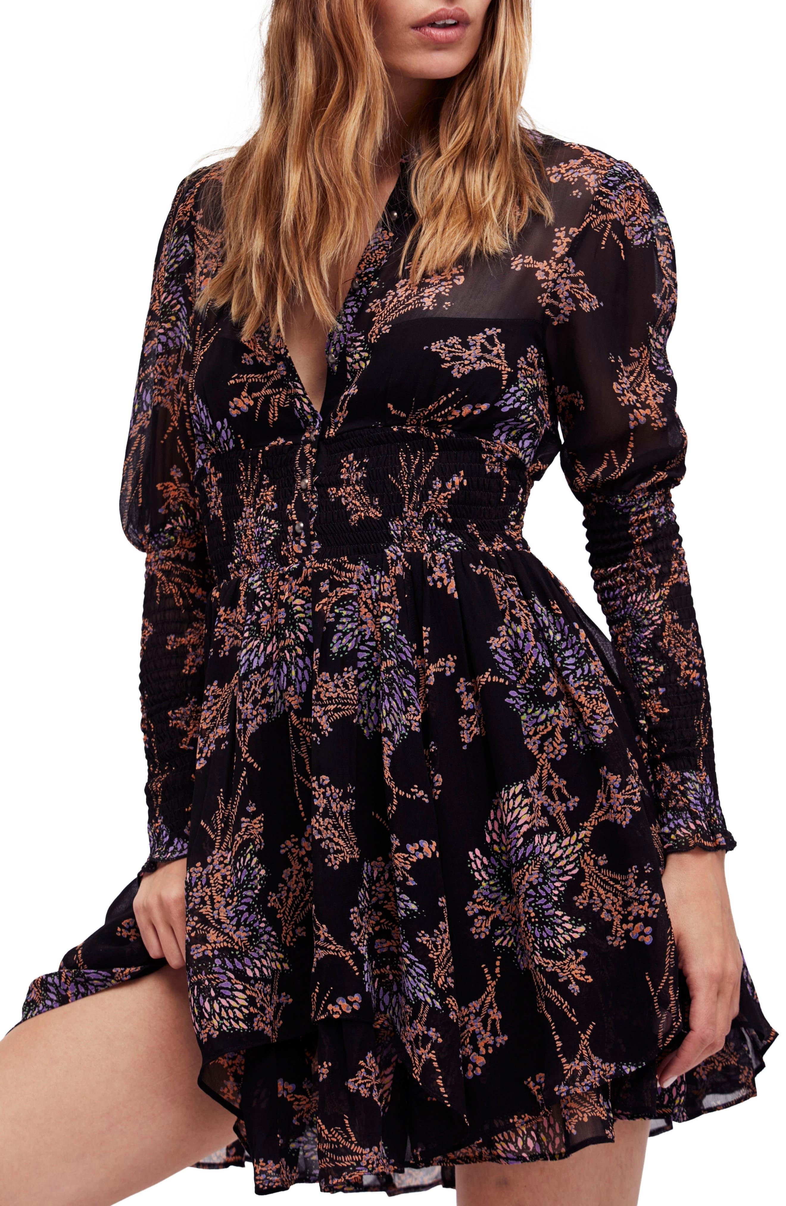 Fake Pretend Babydoll Dress,                         Main,                         color, Black Combo