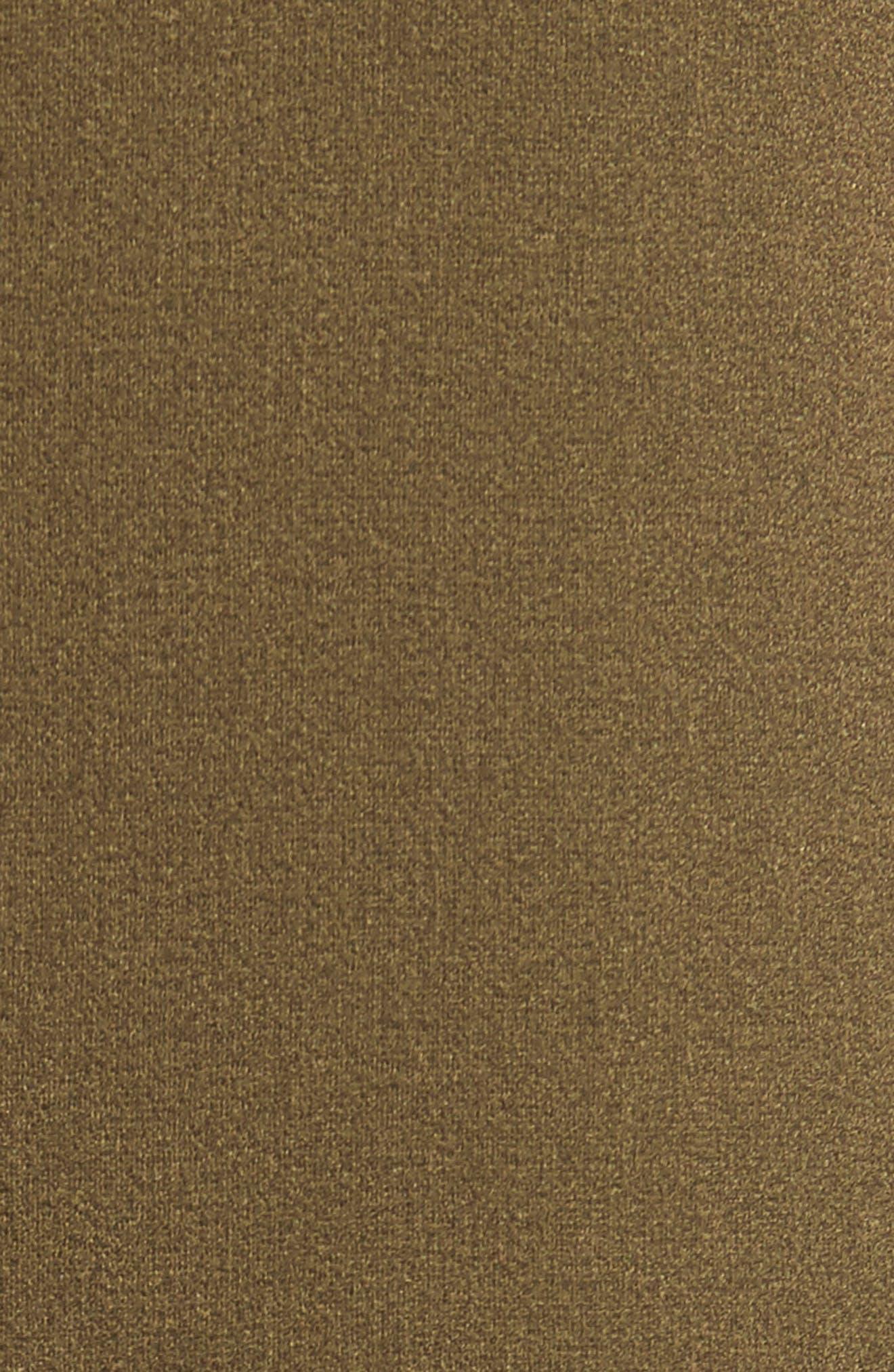 Hailey Crepe Dress,                             Alternate thumbnail 5, color,                             Olive