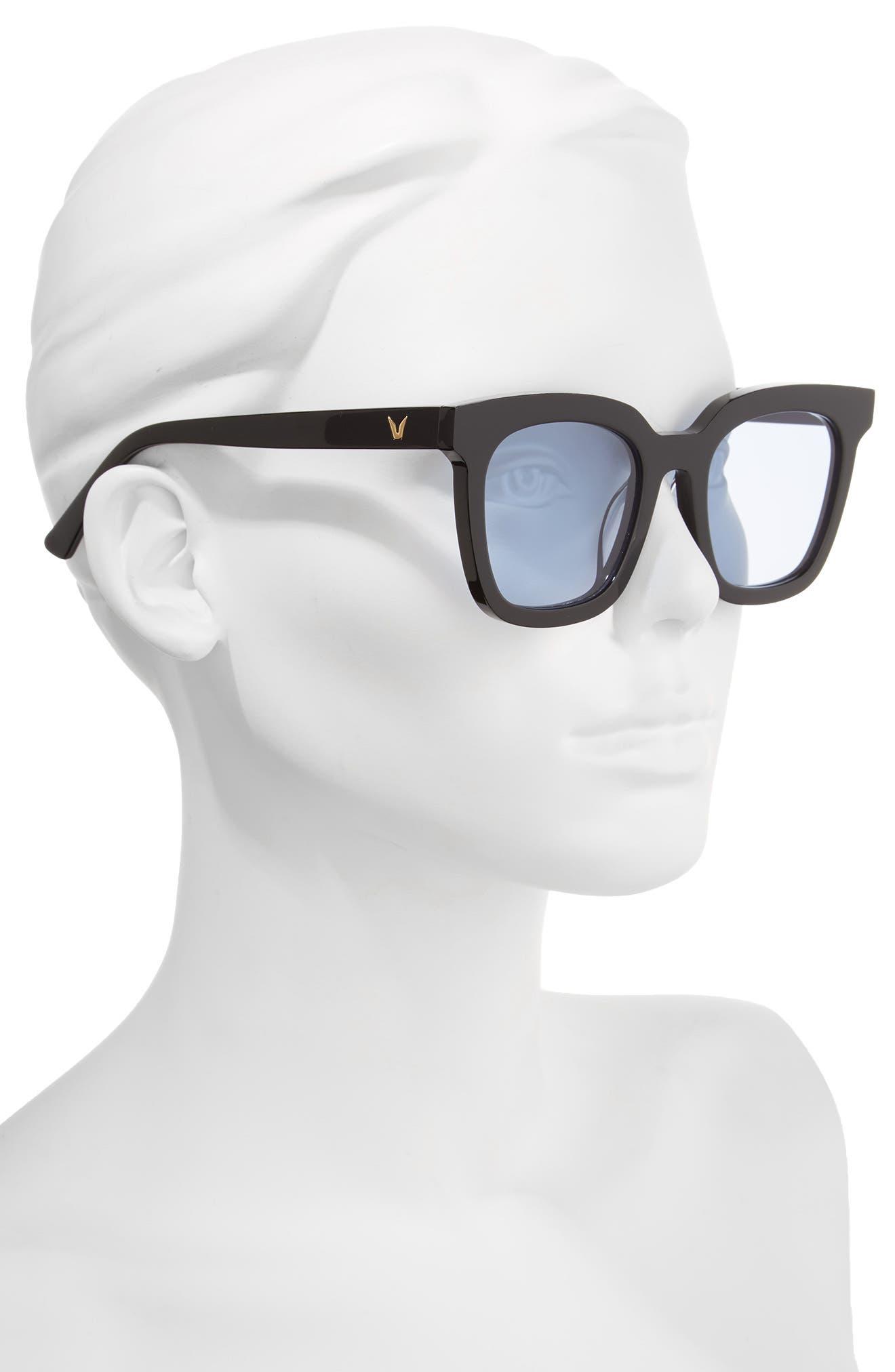 Finn 51mm Sunglasses,                             Alternate thumbnail 2, color,                             Black/ Blue