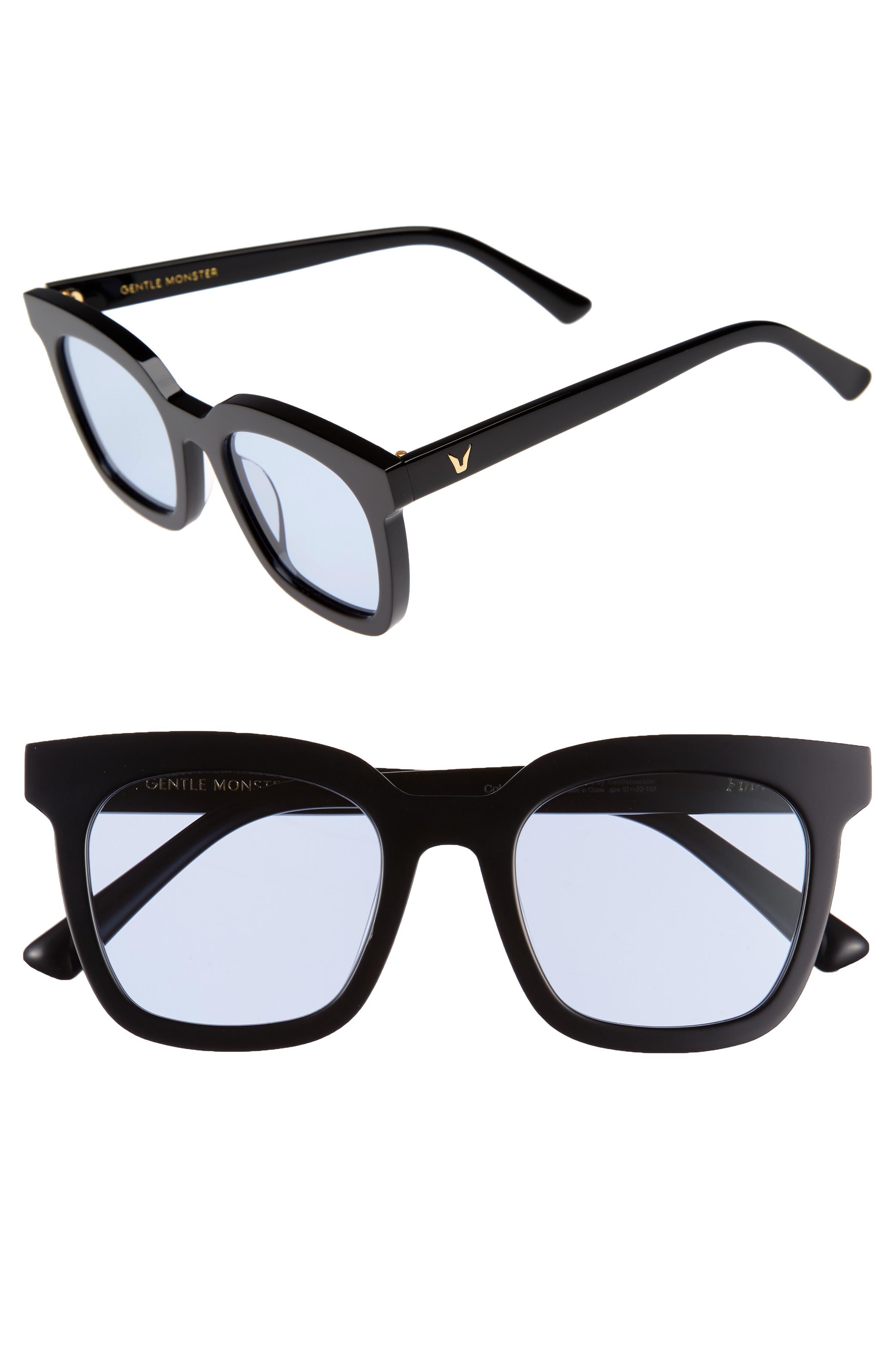 Finn 51mm Sunglasses,                         Main,                         color, Black/ Blue