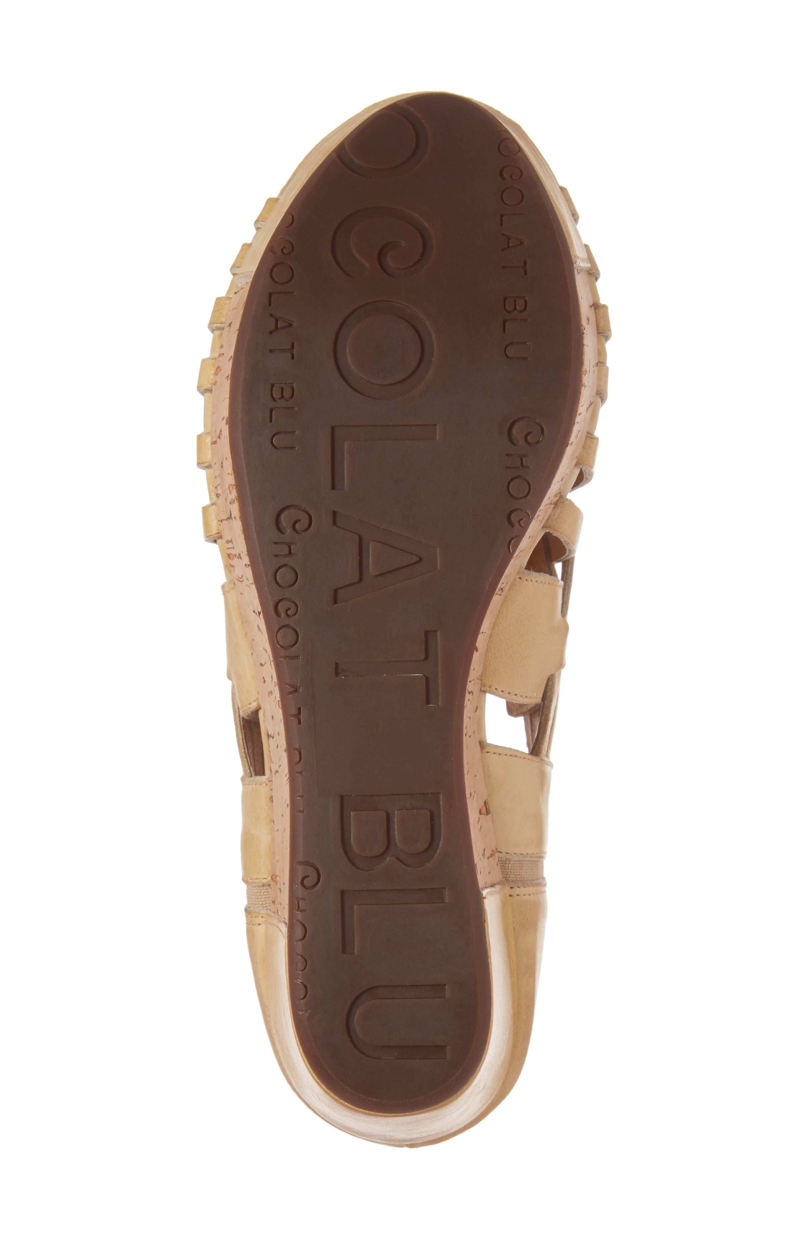 Vic Platform Sandal,                             Alternate thumbnail 5, color,                             Natural Leather