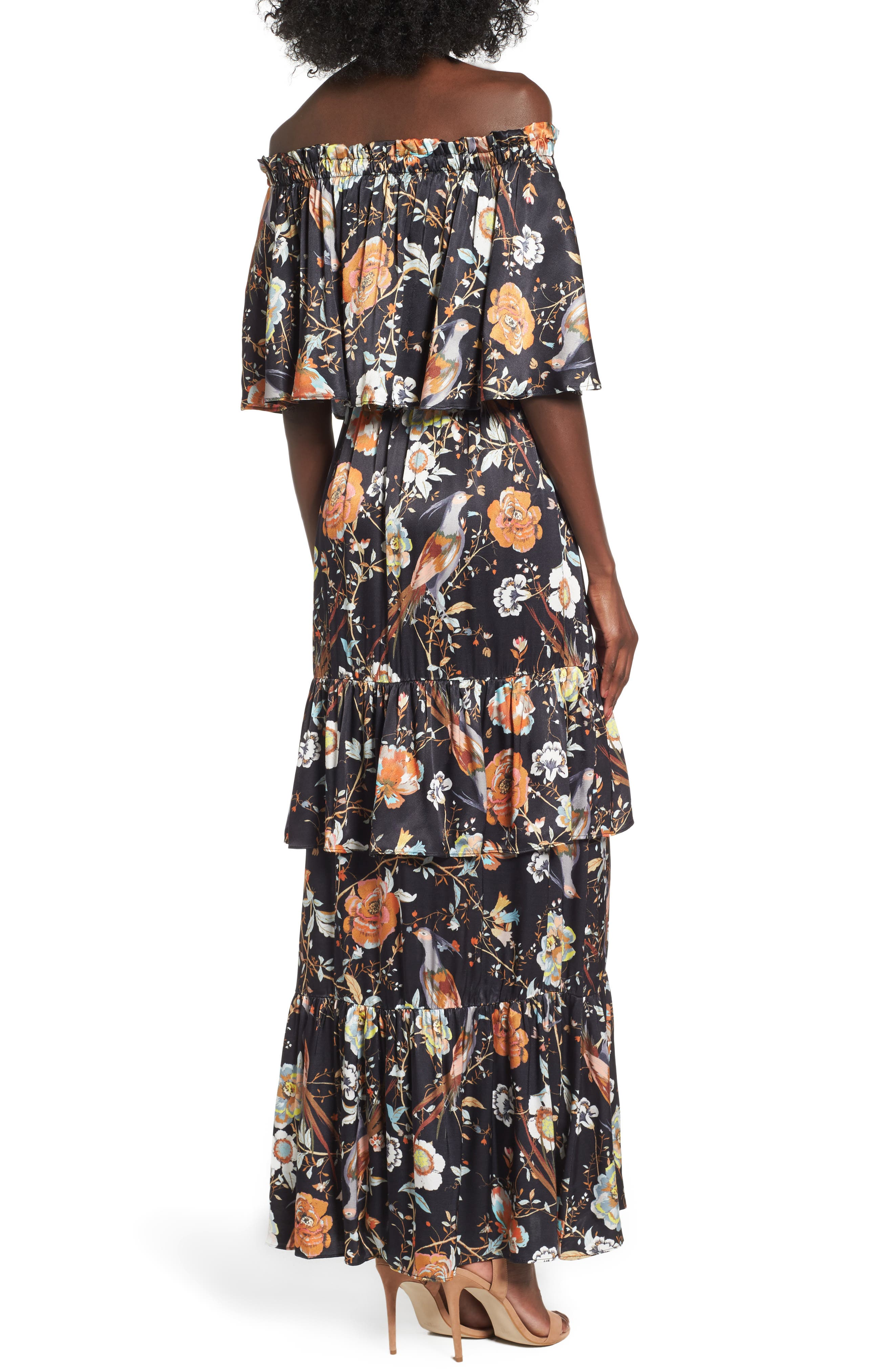 Alternate Image 2  - AFRM Cleo Off the Shoulder Maxi Dress