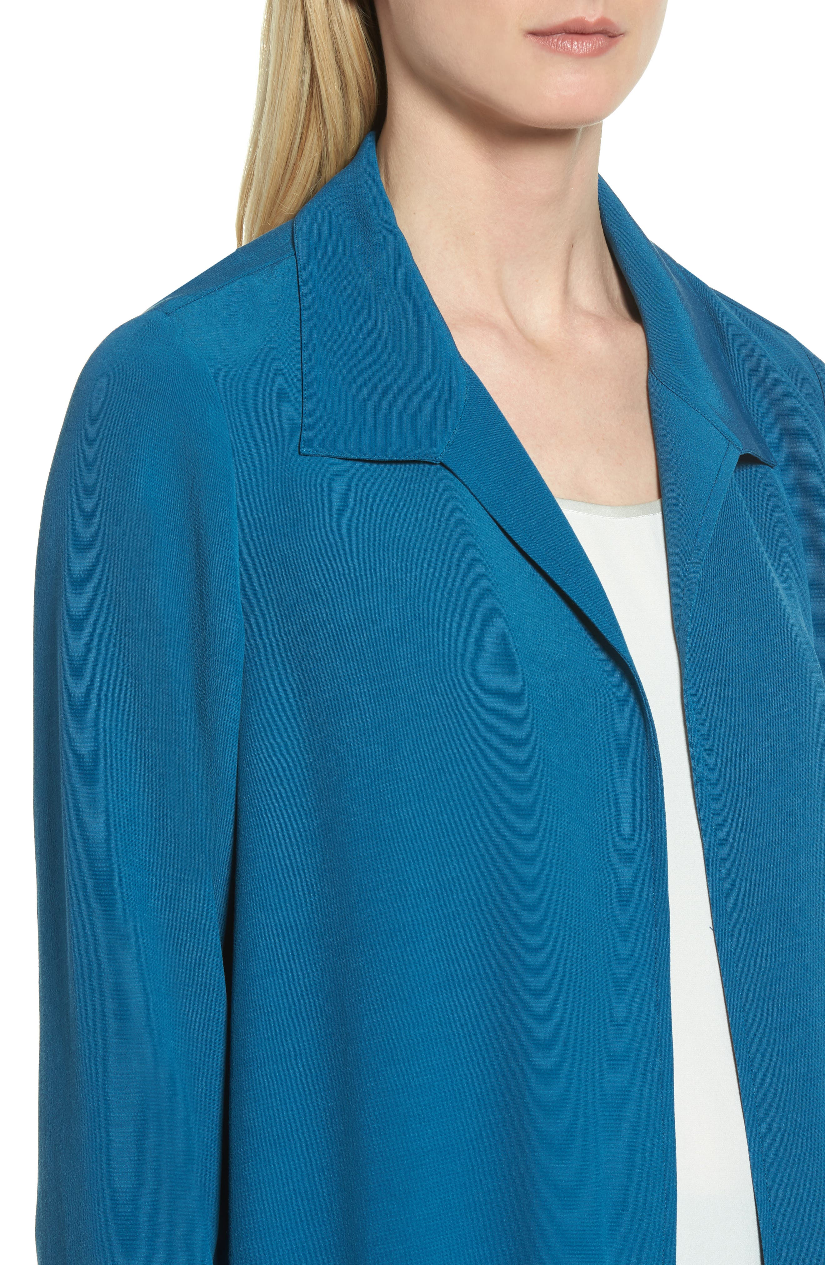 Open Front Duster Jacket,                             Alternate thumbnail 4, color,                             Nile
