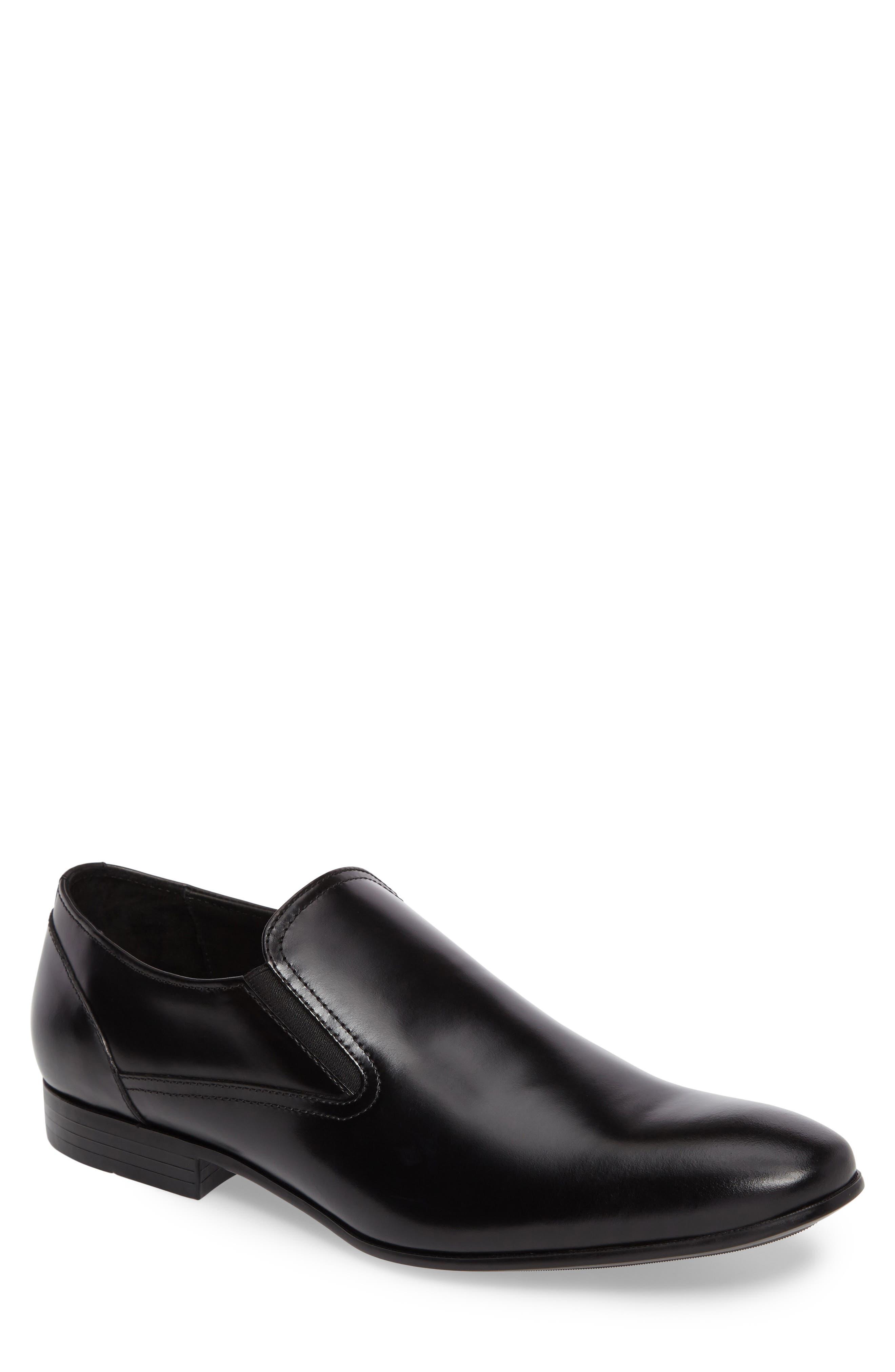 Venetian Loafer,                             Main thumbnail 1, color,                             Black Leather