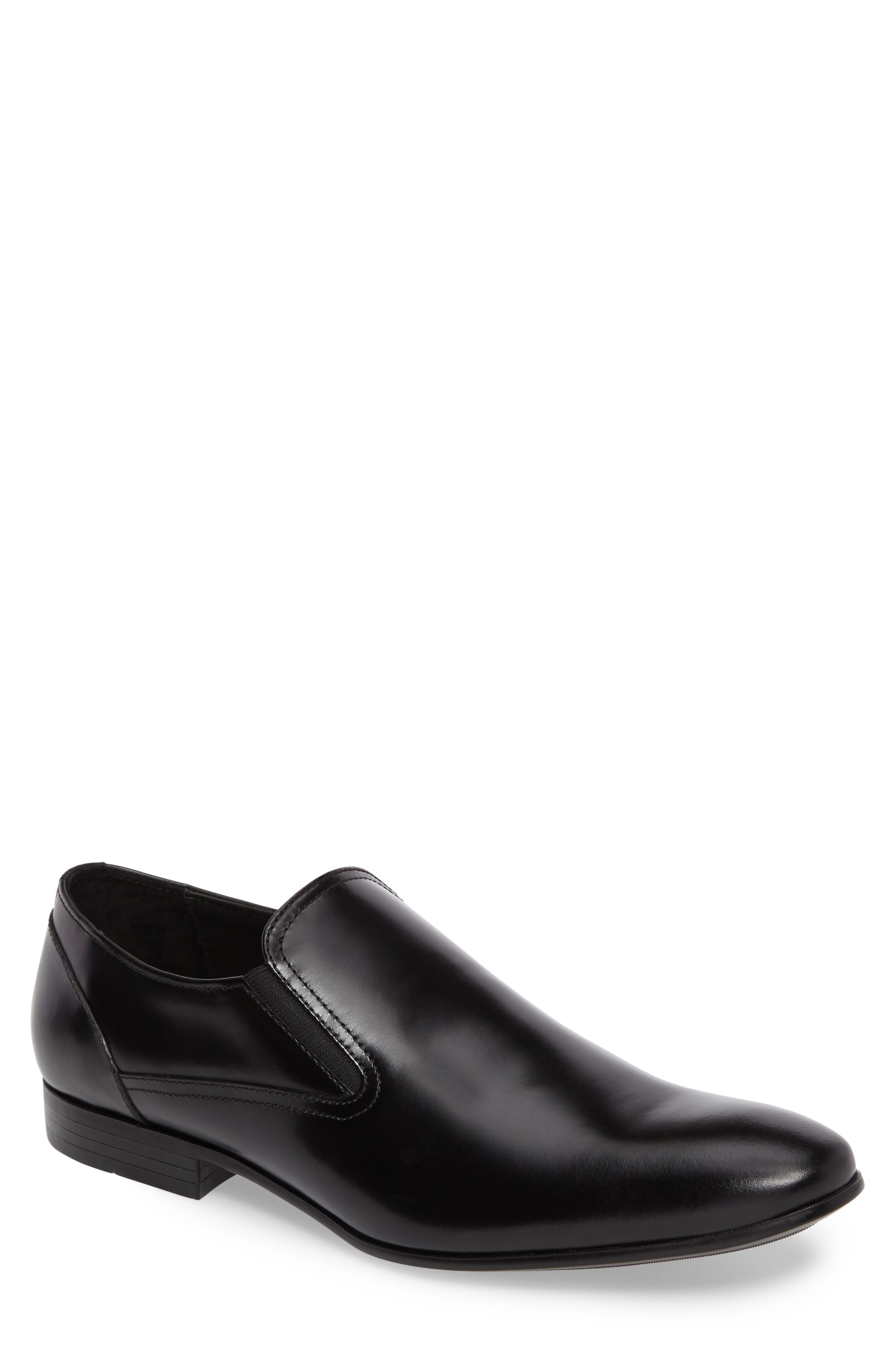Venetian Loafer,                         Main,                         color, Black Leather
