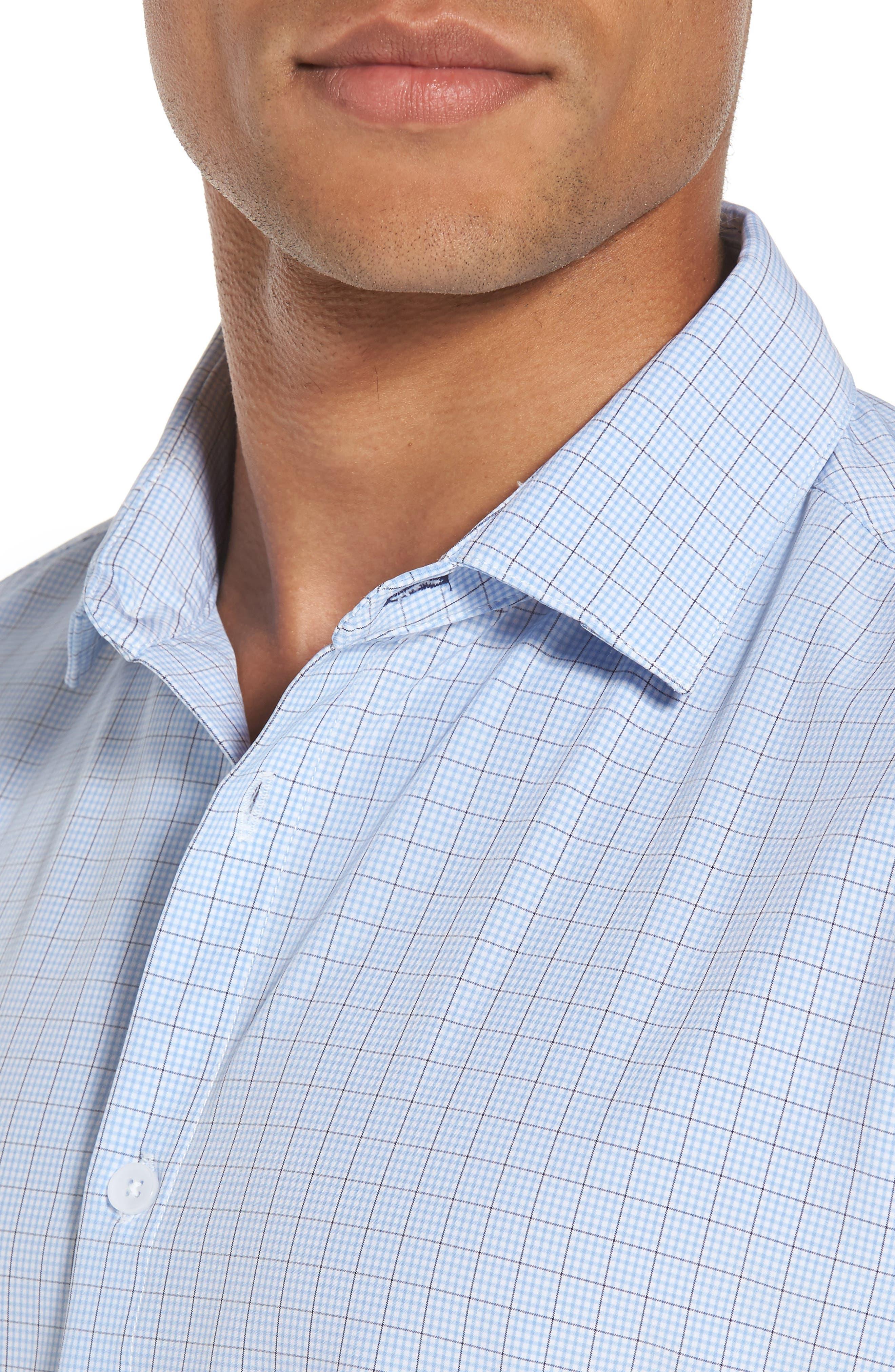 Davis Check Sport Shirt,                             Alternate thumbnail 2, color,                             Blue