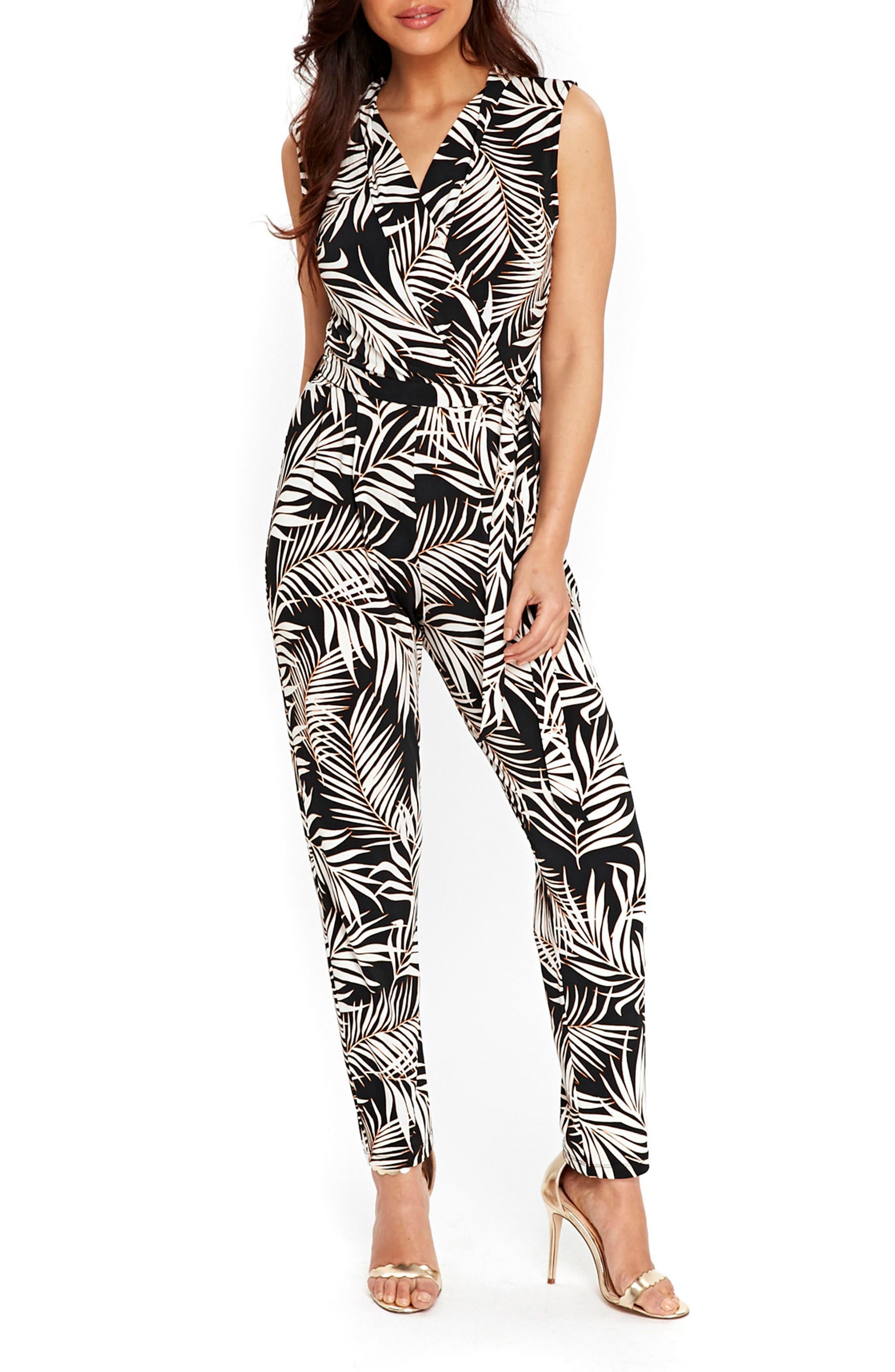 WALLIS Palm Print Jumpsuit